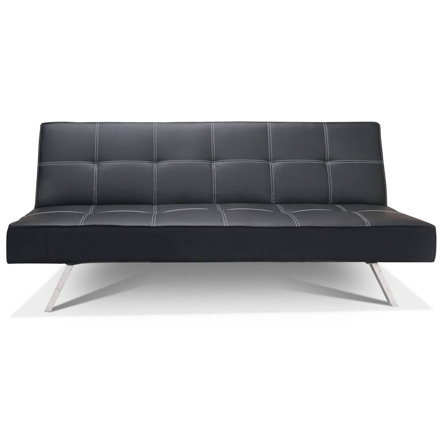 Furniture: Fabulous Faux Leather Futon For Living Room Decor intended for Cheap Sofa Beds (Image 12 of 30)