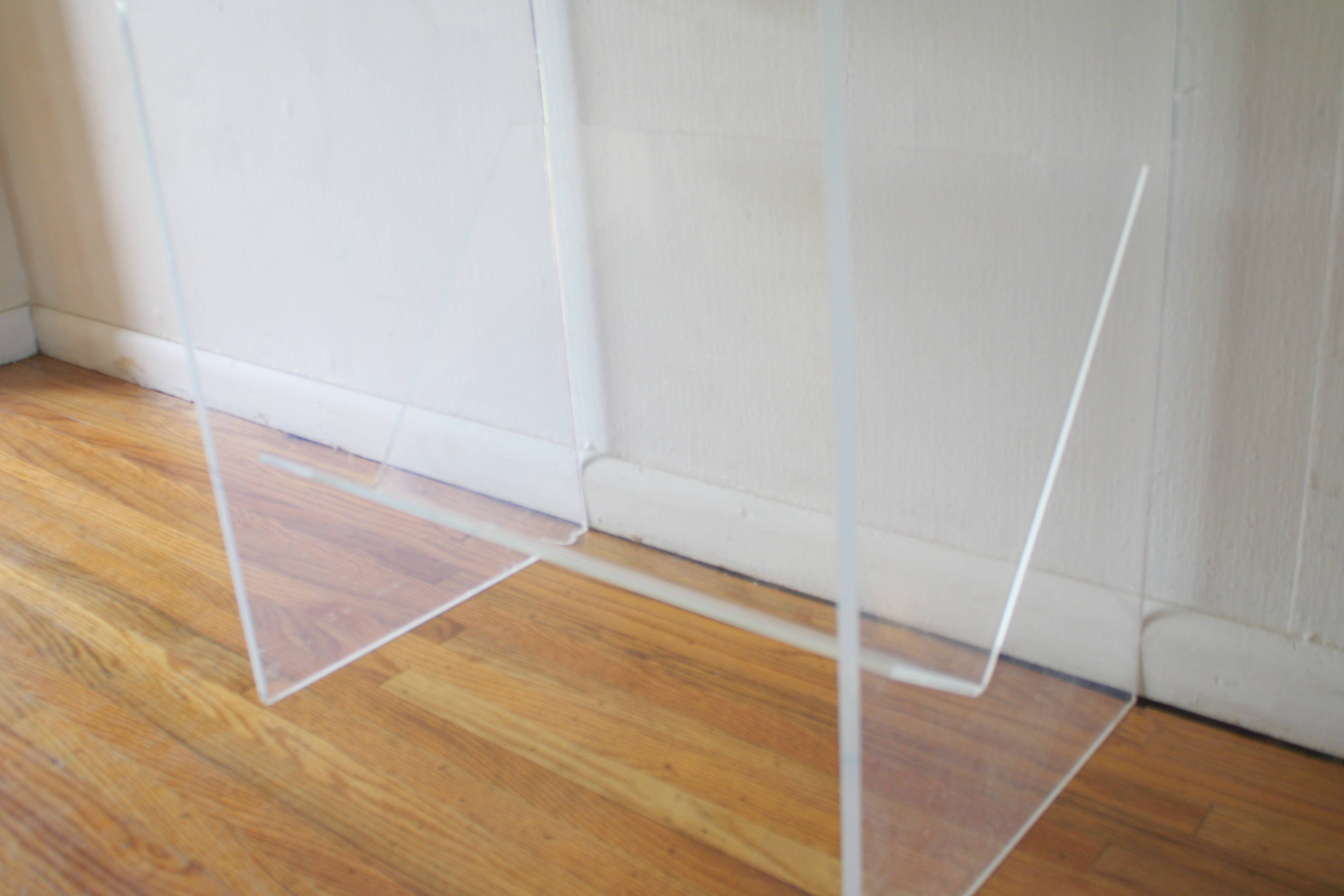 Furniture: Fabulous Lucite Table With Plastic Source For Home throughout Acrylic Coffee Tables With Magazine Rack (Image 16 of 30)