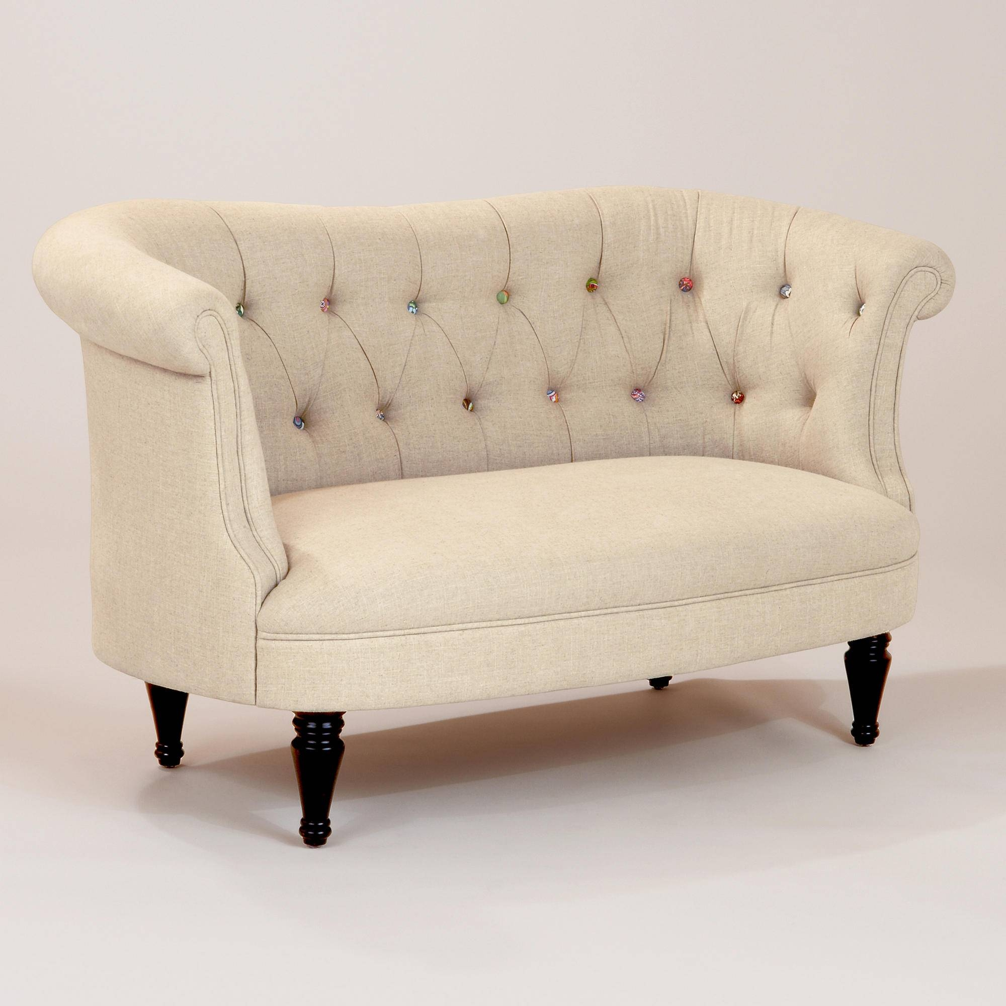 Furniture: Fabulous Tufted Loveseat For Interesting Living Room pertaining to Cheap Tufted Sofas (Image 5 of 30)