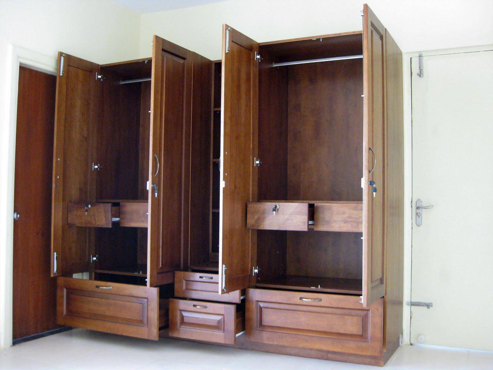 Furniture: Fancy Wardrobe Armoire For Wardrobe Organizer Idea in Wardrobe With Shelves And Drawers (Image 13 of 30)