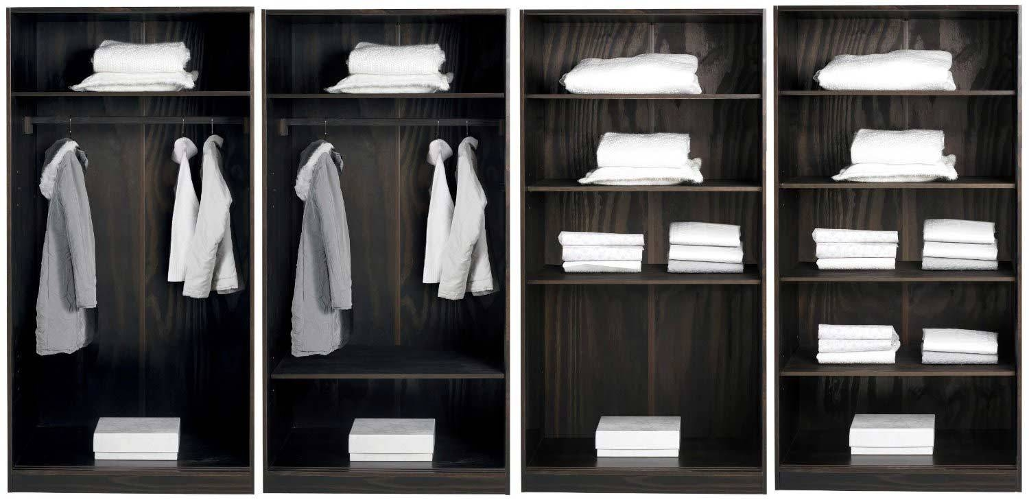 Furniture: Fancy Wardrobe Armoire For Wardrobe Organizer Idea intended for Dark Wood Wardrobes Armoires (Image 16 of 30)