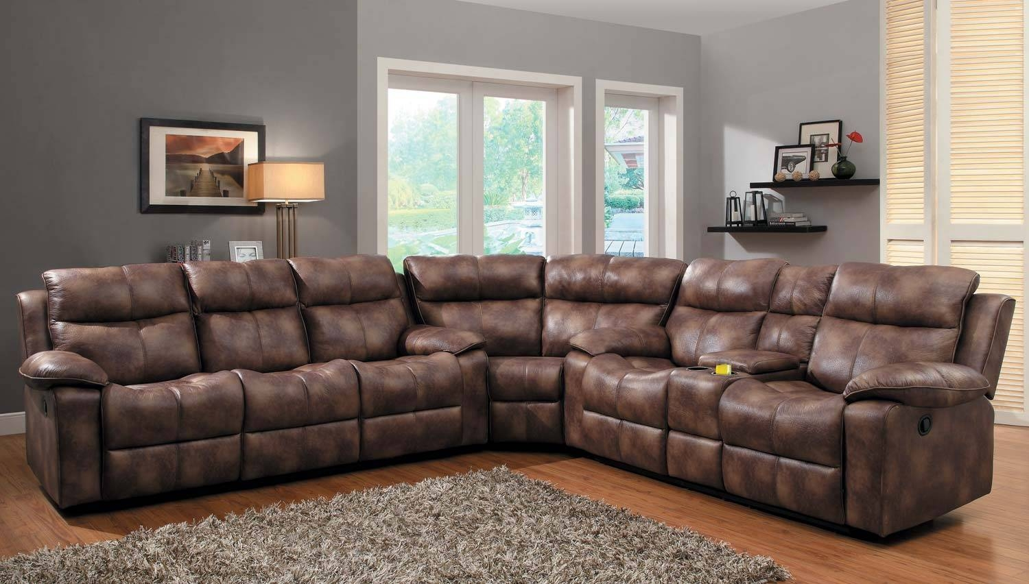 Furniture: Fantastic Sectional Couches With Recliners For Your inside Microsuede Sectional Sofas (Image 11 of 30)