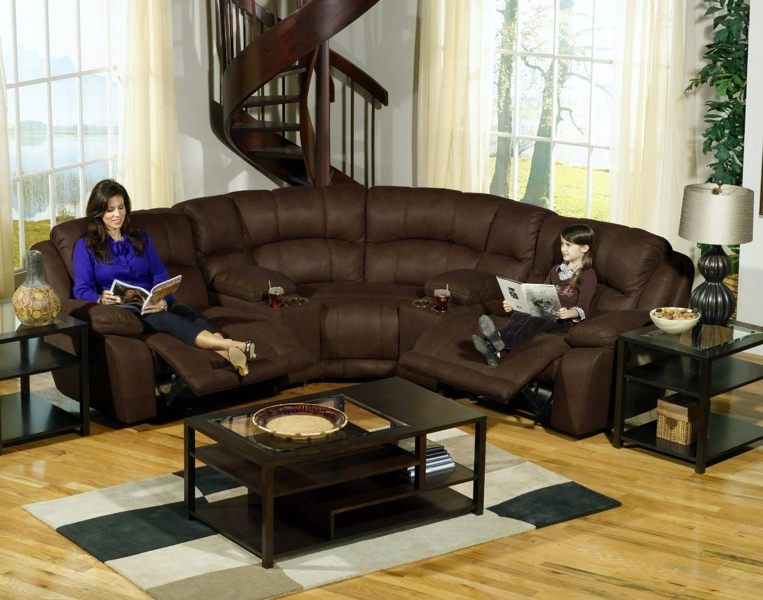 Furniture: Fantastic Sectional Couches With Recliners For Your throughout Leather Modular Sectional Sofas (Image 11 of 30)