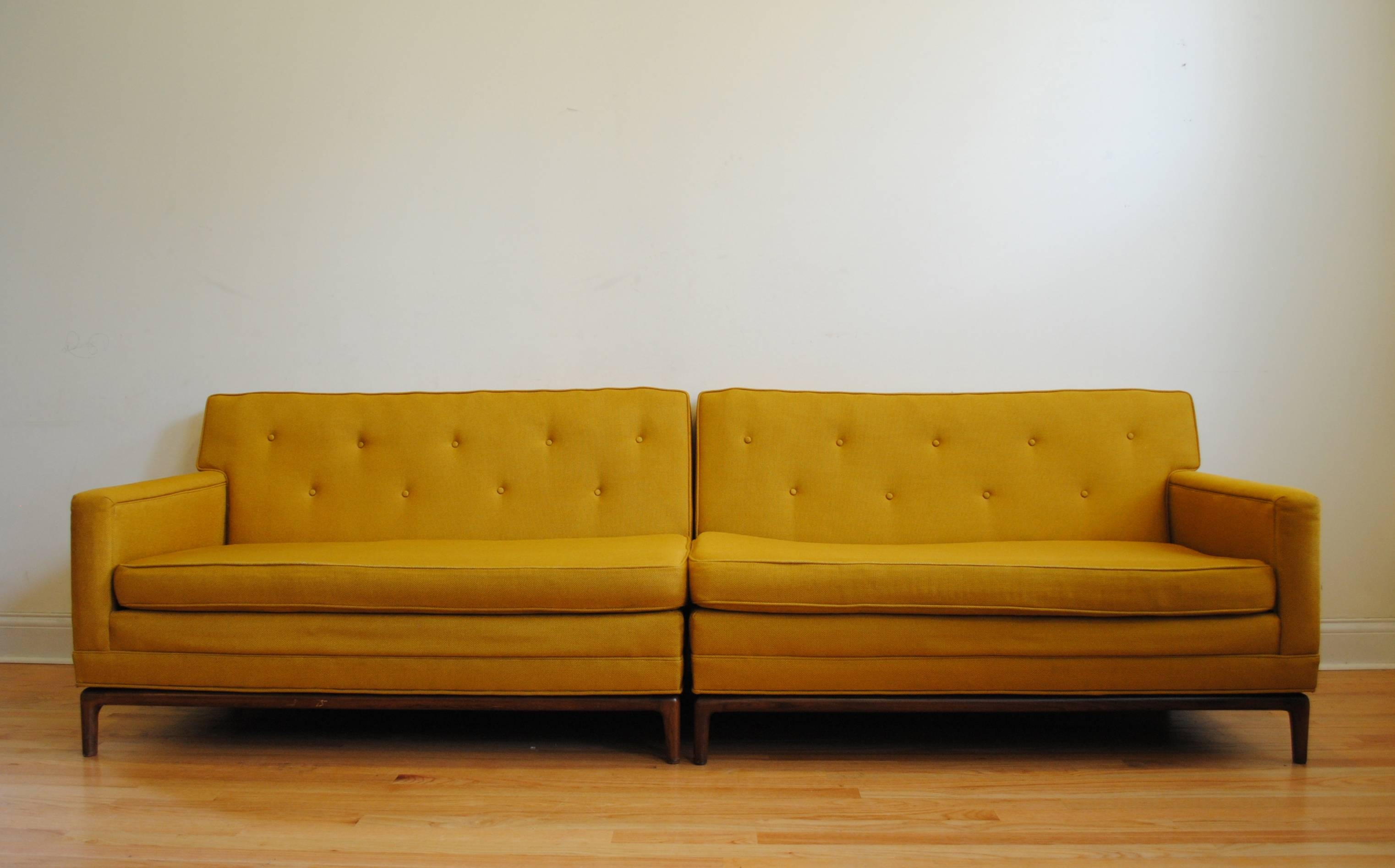 Furniture: Fascinating Mid Century Sofas For Comfy Home Furniture for Yellow Sofa Chairs (Image 15 of 30)