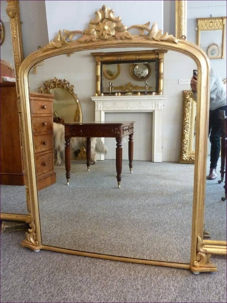 Furniture : Frameless Floor Mirror Wide Floor Mirror Gold Framed pertaining to Ornate Full Length Wall Mirrors (Image 15 of 25)