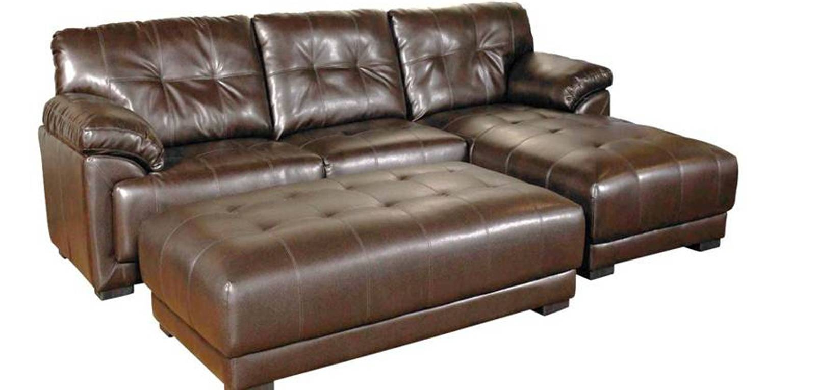Furniture: Full Grain Leather Sectional | Brown Sectional Couch throughout Full Grain Leather Sofas (Image 19 of 30)
