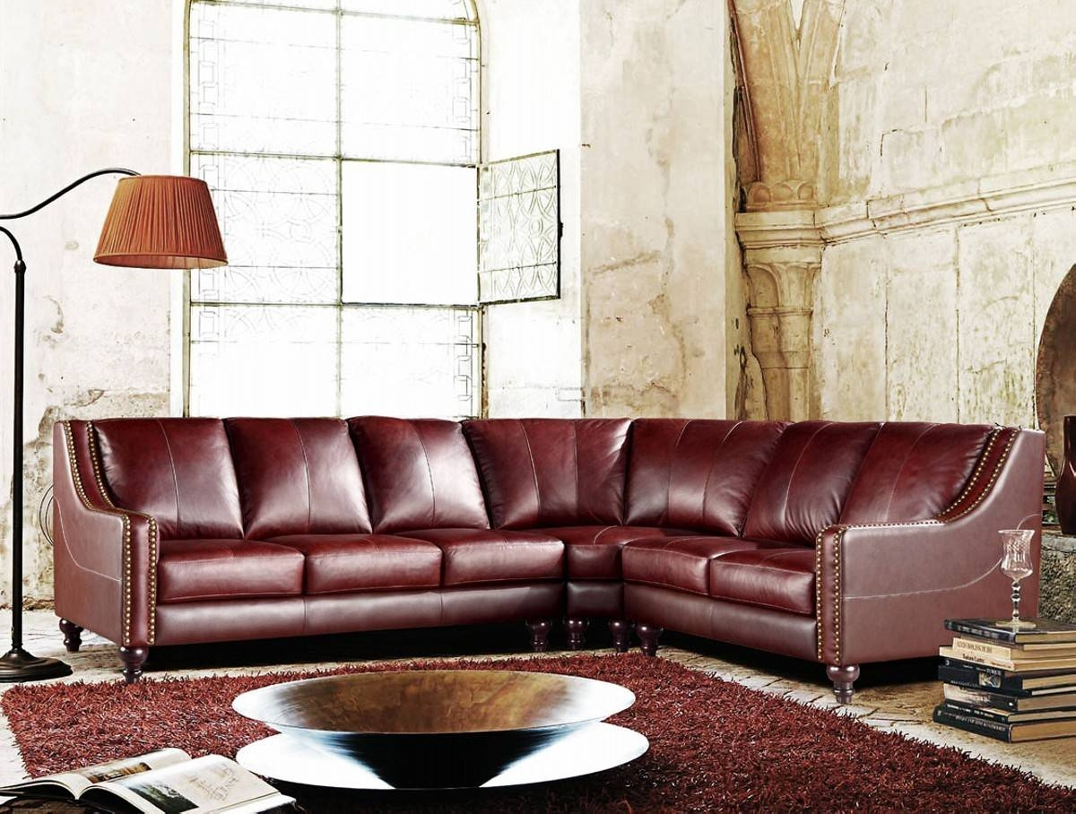 Furniture: Full Grain Leather Sectional | Costco Leather Sofa pertaining to Full Grain Leather Sofas (Image 20 of 30)