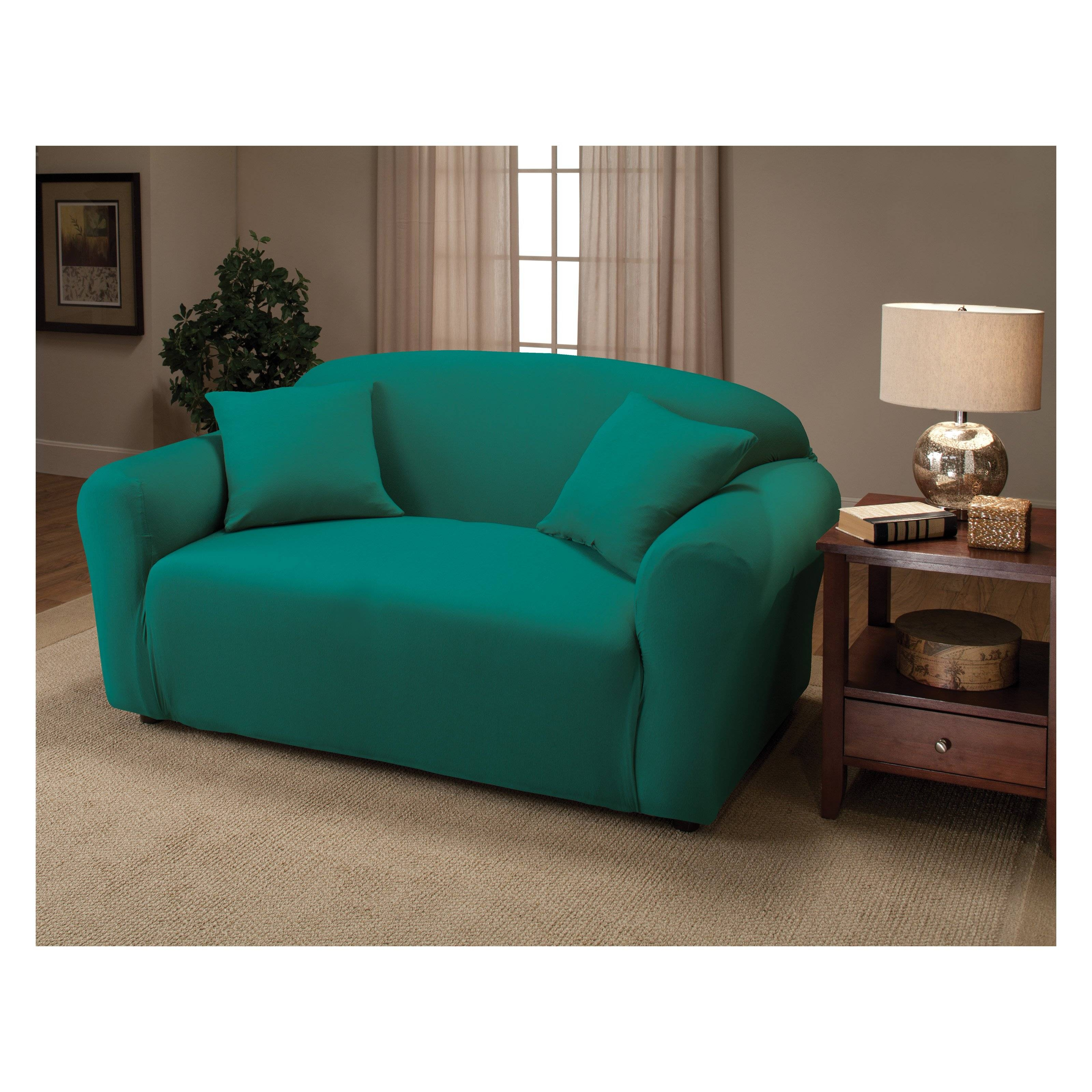 Furniture: Give Your Furniture Makeover With Sofa Recliner Covers with regard to Turquoise Sofa Covers (Image 10 of 30)