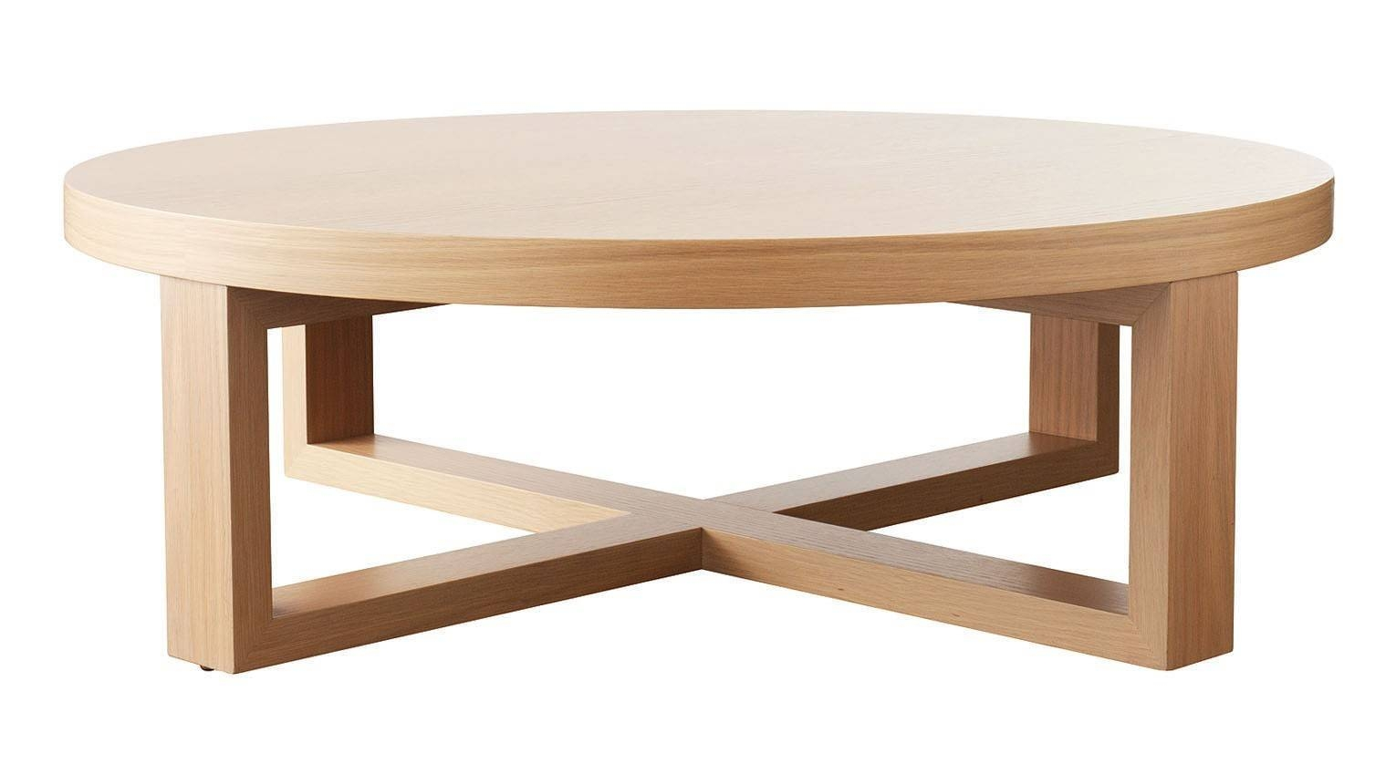 Furniture. Glamorous Round Oak Coffee Table Designs: Wonderful intended for Round Oak Coffee Tables (Image 9 of 30)