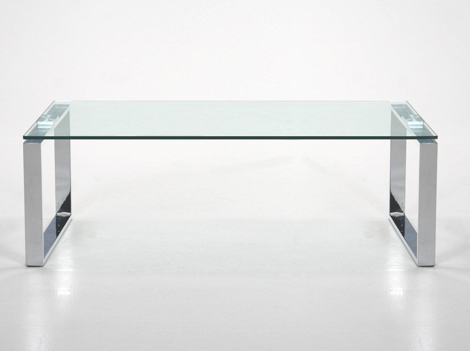 Furniture. Glass And Chrome Coffee Table Ideas: Silver Rectangle throughout Modern Chrome Coffee Tables (Image 19 of 30)