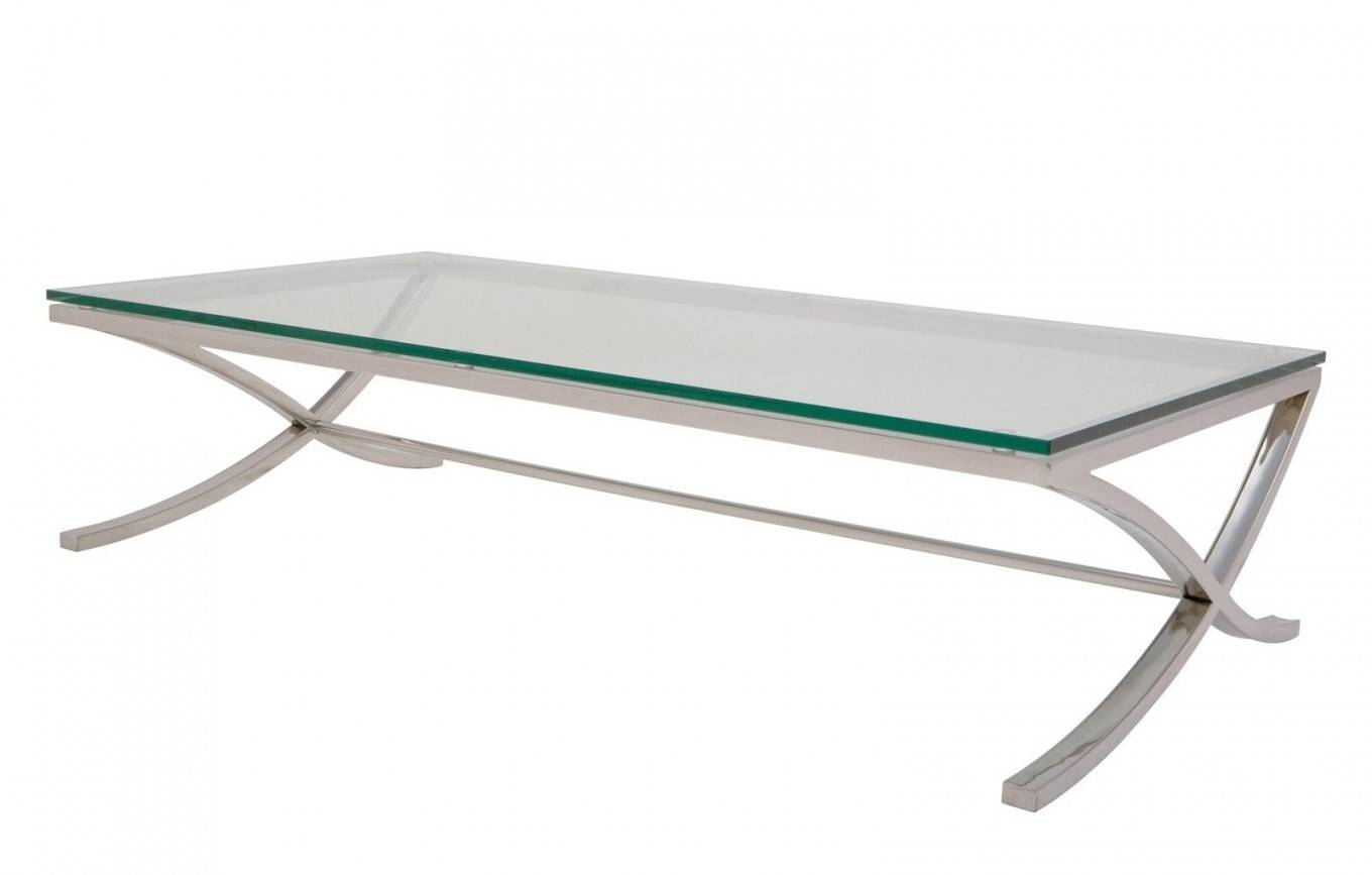 Furniture Glass And Chrome Coffee Table Ideas: Silver Rectangle Within Chrome Glass Coffee Tables (View 11 of 30)