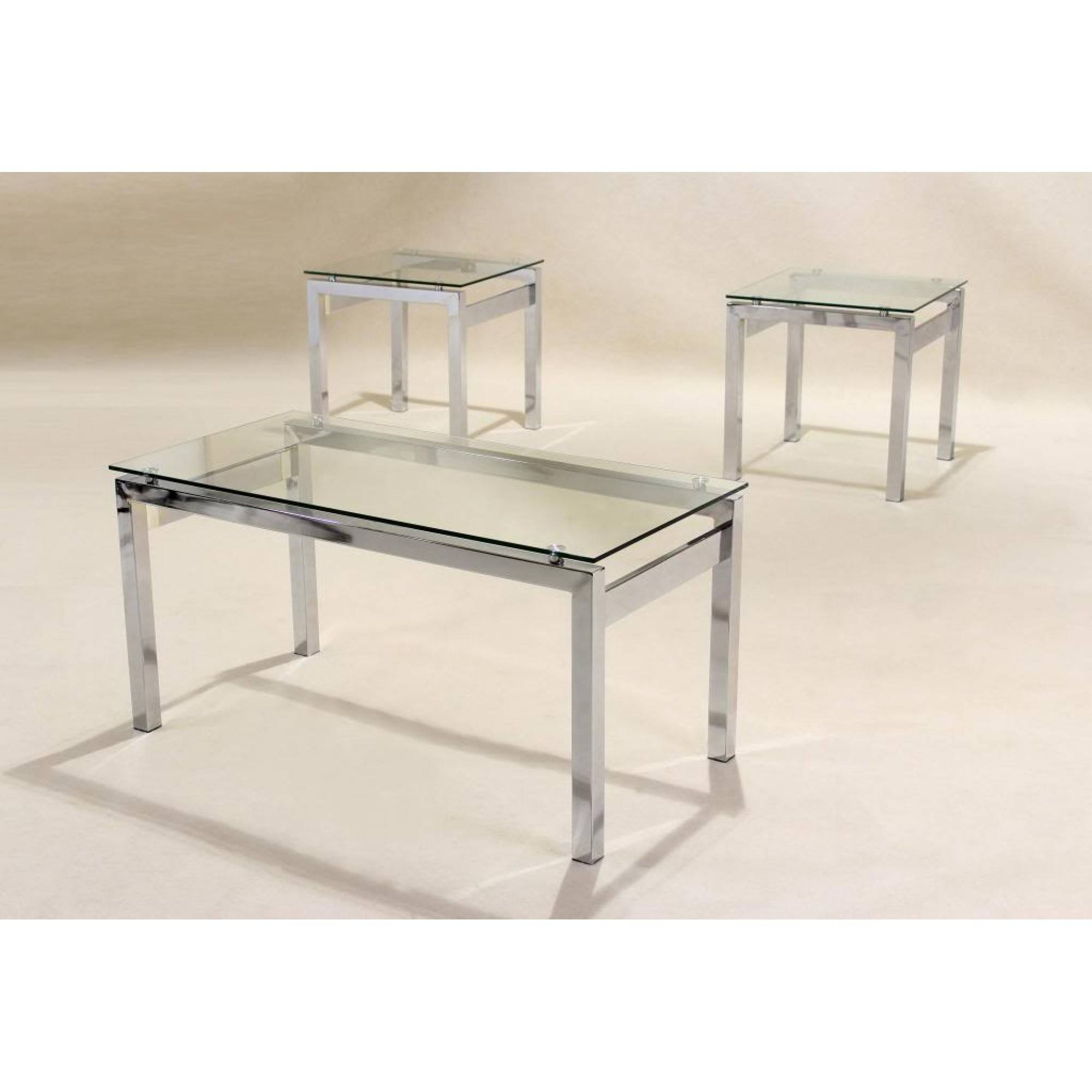 Furniture Glass And Chrome Coffee Table Ideas: Silver Rectangle within Glass Chrome Coffee Tables (Image 11 of 30)