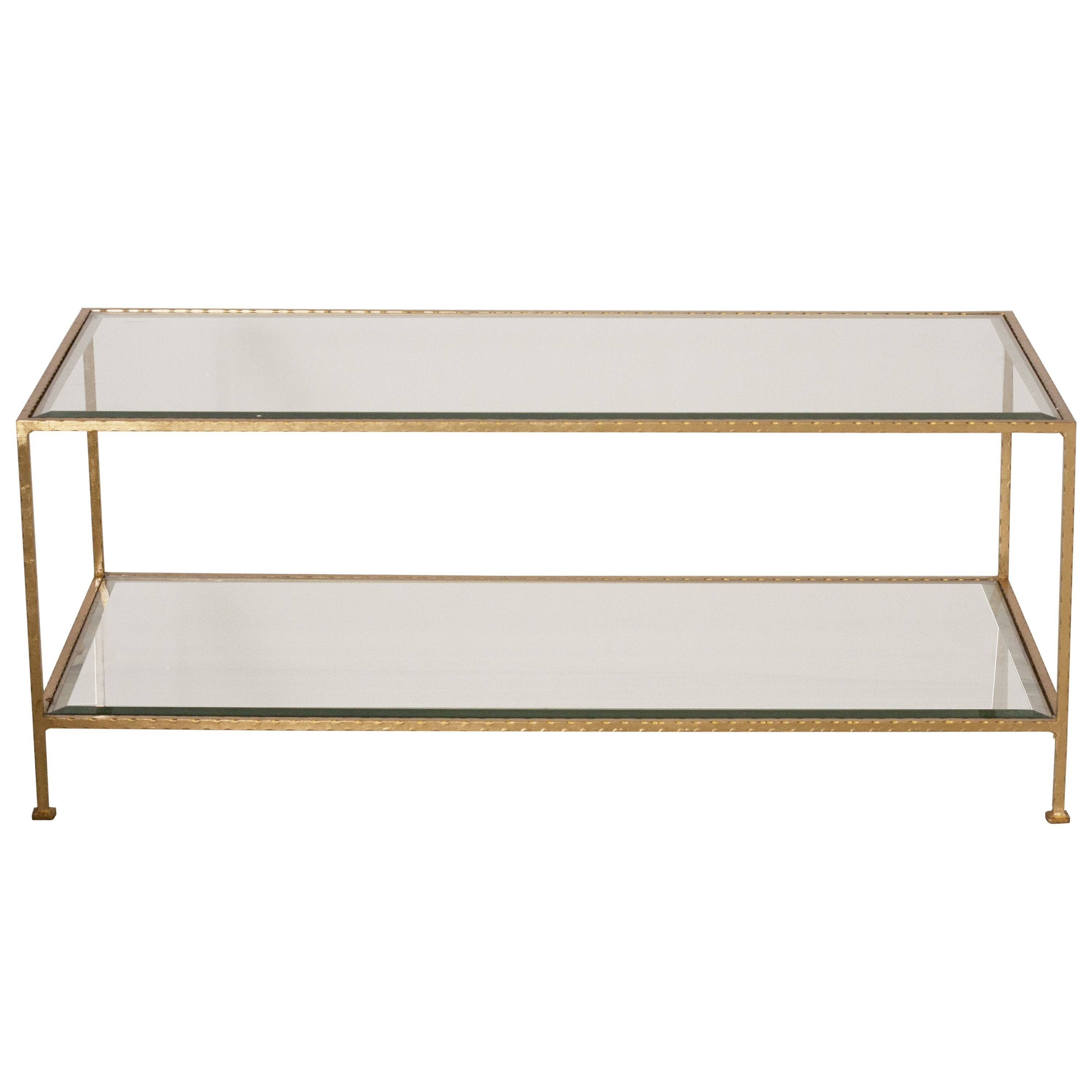 Furniture. Glass And Gold Coffee Table Ideas: Bronze Rectangle pertaining to Retro Glass Coffee Tables (Image 18 of 30)