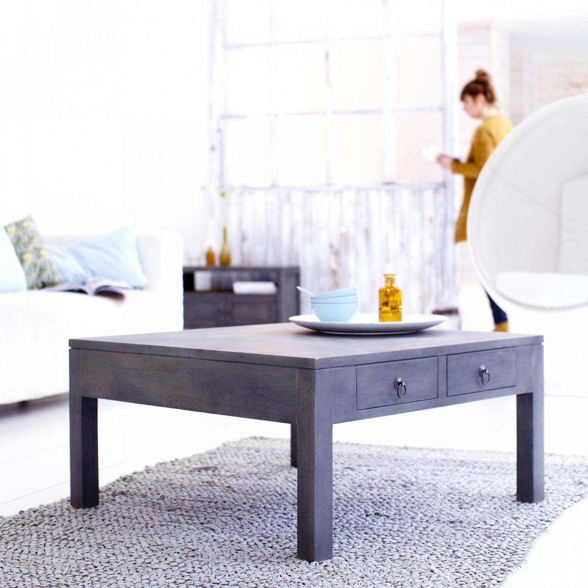 Furniture: Gray Wood Coffee Table Ideas Grey Modern Coffee Table regarding Grey Wood Coffee Tables (Image 16 of 30)