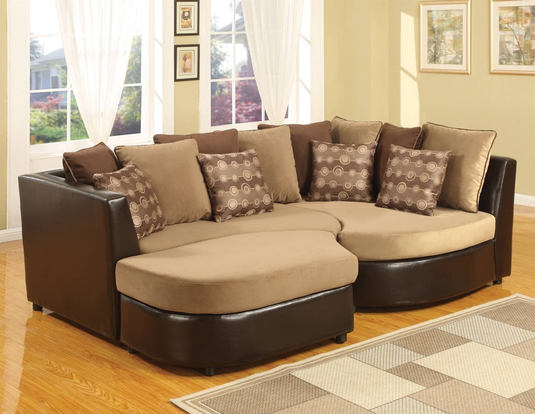Furniture: Great Pit Sectional For Living Room Furniture Ideas Inside Soft Sectional Sofas (View 11 of 30)