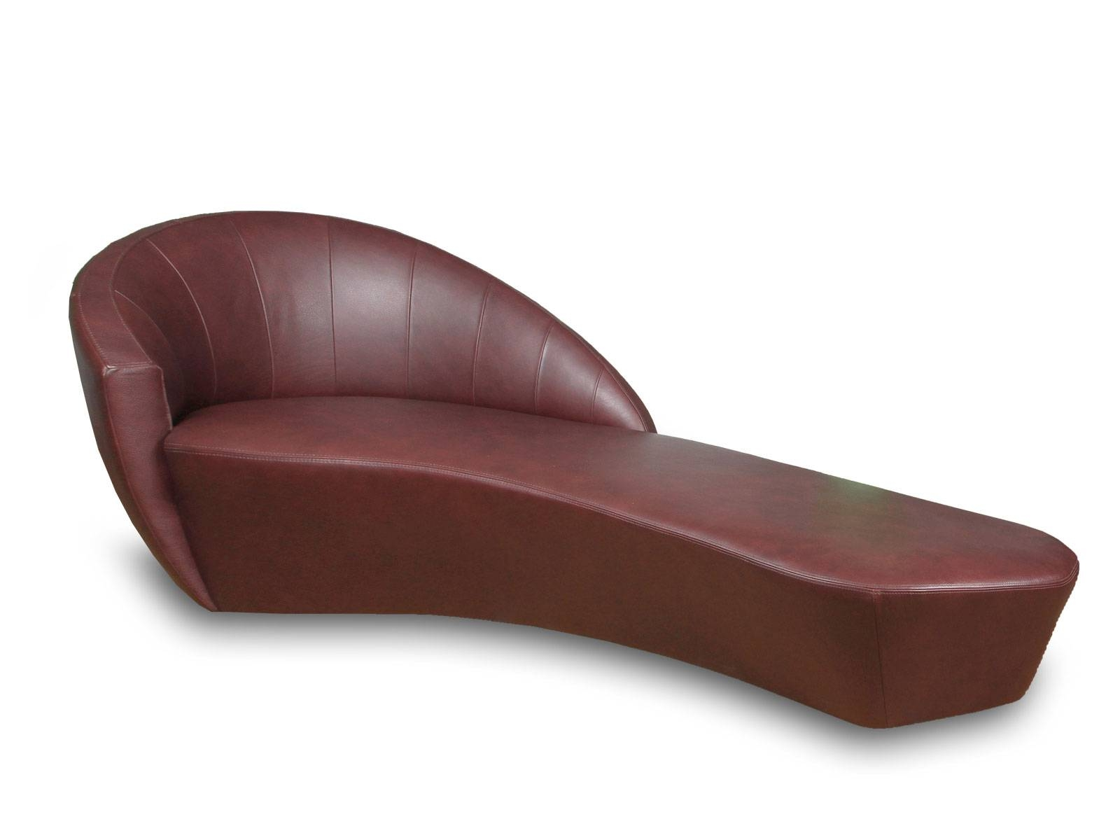 Leather chaise lounge sofa baxton studio pease faux for Chaise longue lockheed lounge