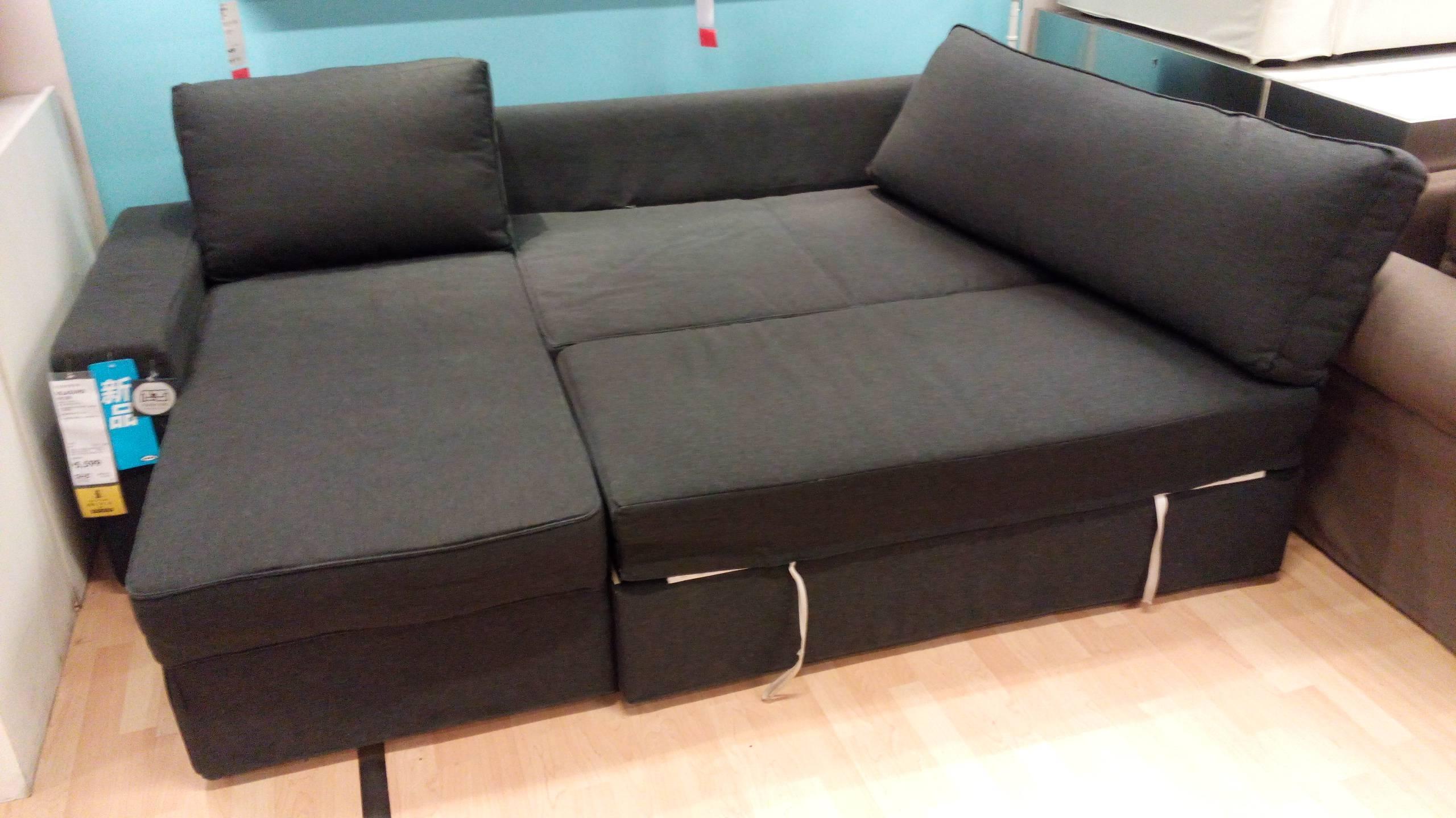 Furniture: Grey Sectional Ikea | Friheten Sofa Bed Review | Ikea with Ikea Sectional Sofa Bed (Image 4 of 25)