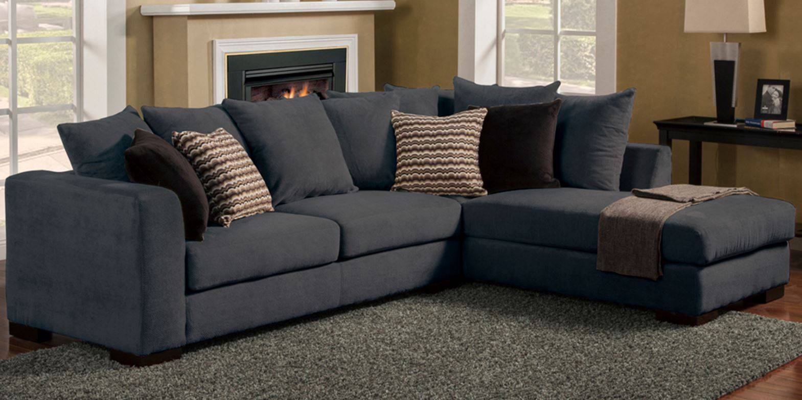grey upholstered deep sectional sofa with wicket rattan intended for deep cushioned sofas : deep sectional couch - Sectionals, Sofas & Couches