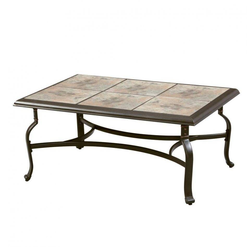 Furniture: Hampton Bay Belleville Tile Top Patio Coffee Table Fts with Patio Sofa Tables (Image 11 of 30)