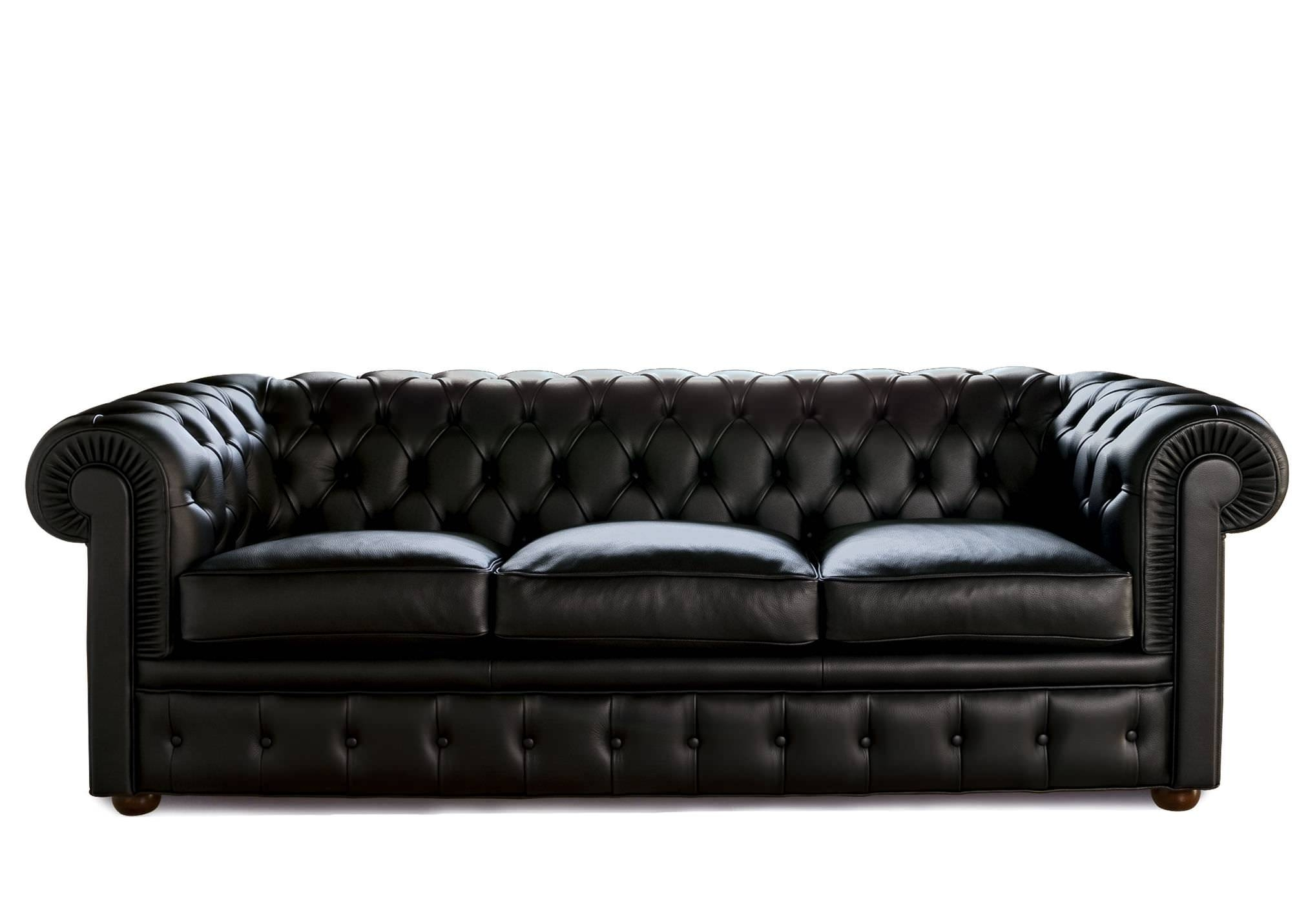 Furniture: Have A Luxury Living Room With The Elegant Chesterfield pertaining to Chesterfield Black Sofas (Image 14 of 30)