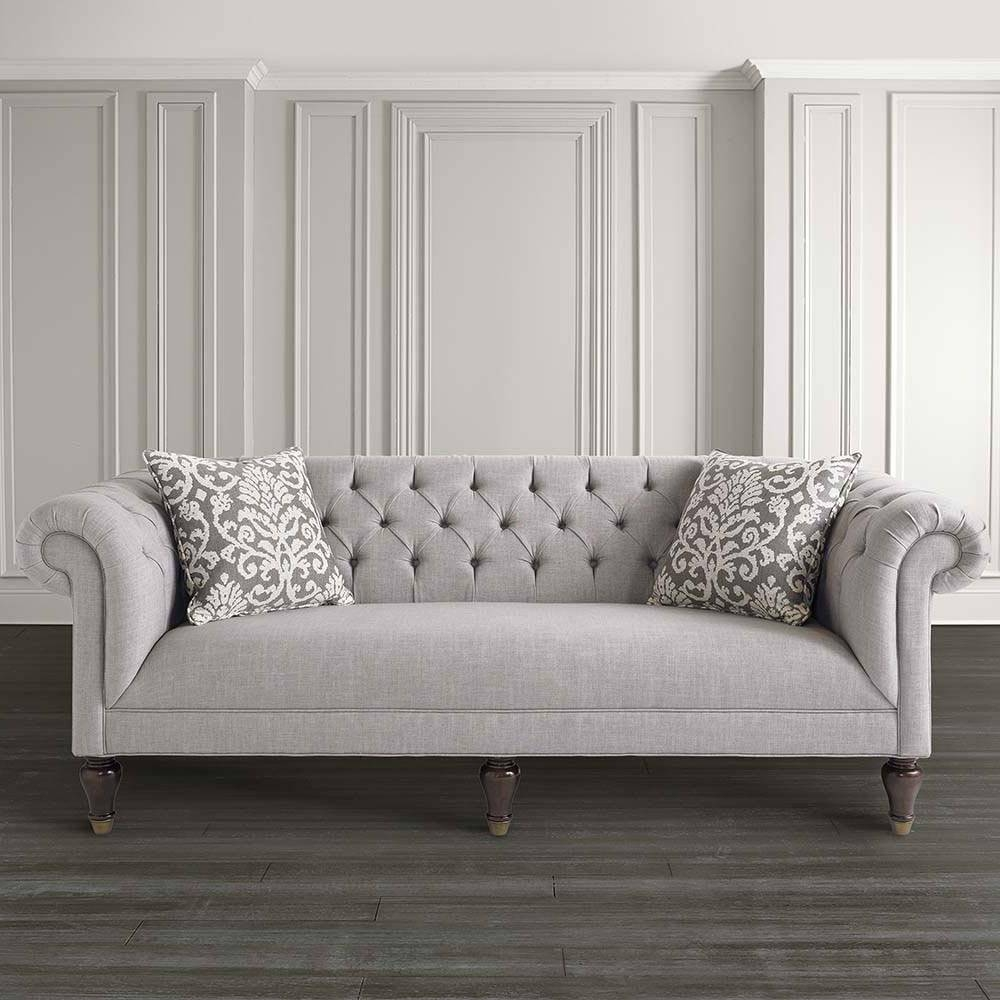 White chesterfield chair - Furniture Have A Luxury Living Room With The Elegant Chesterfield Regarding Chesterfield Sofas Image