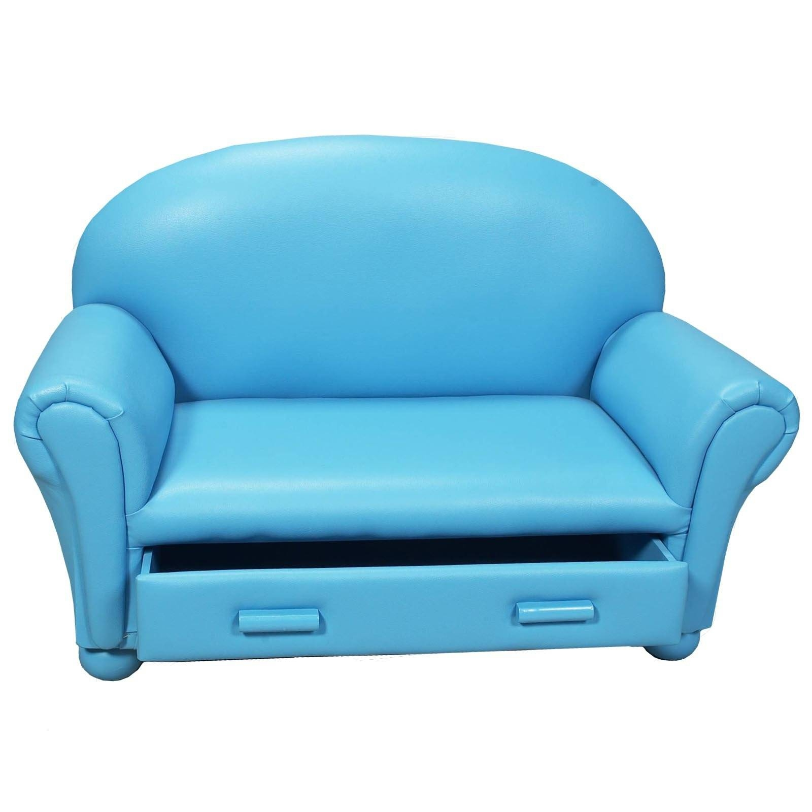 Furniture Home: Childrens Sofa With Storage Drawer Kids throughout Children Sofa Chairs (Image 8 of 30)