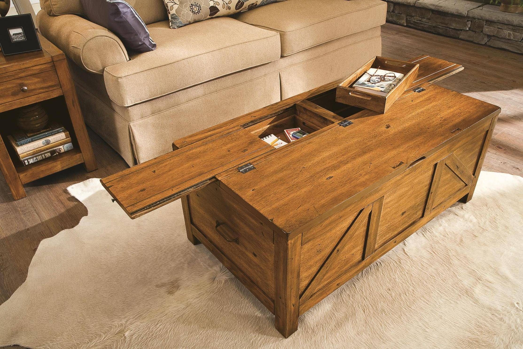 Furniture Home: Coffee Table With Storage Furniture Designs with regard to Wooden Coffee Tables With Storage (Image 18 of 30)