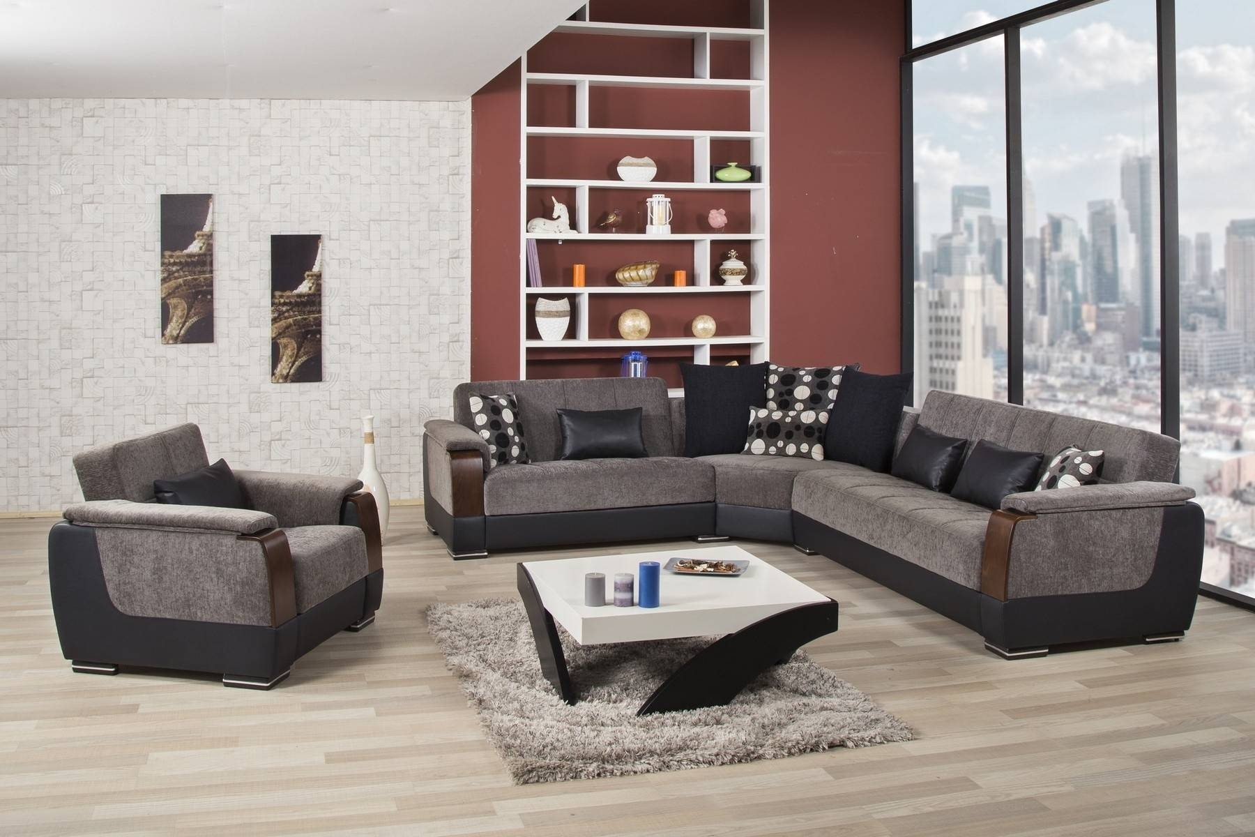 Furniture Home: Cool Modern Microfiber Sectional Sofas 28 For Your throughout Modern Microfiber Sectional Sofa (Image 9 of 30)