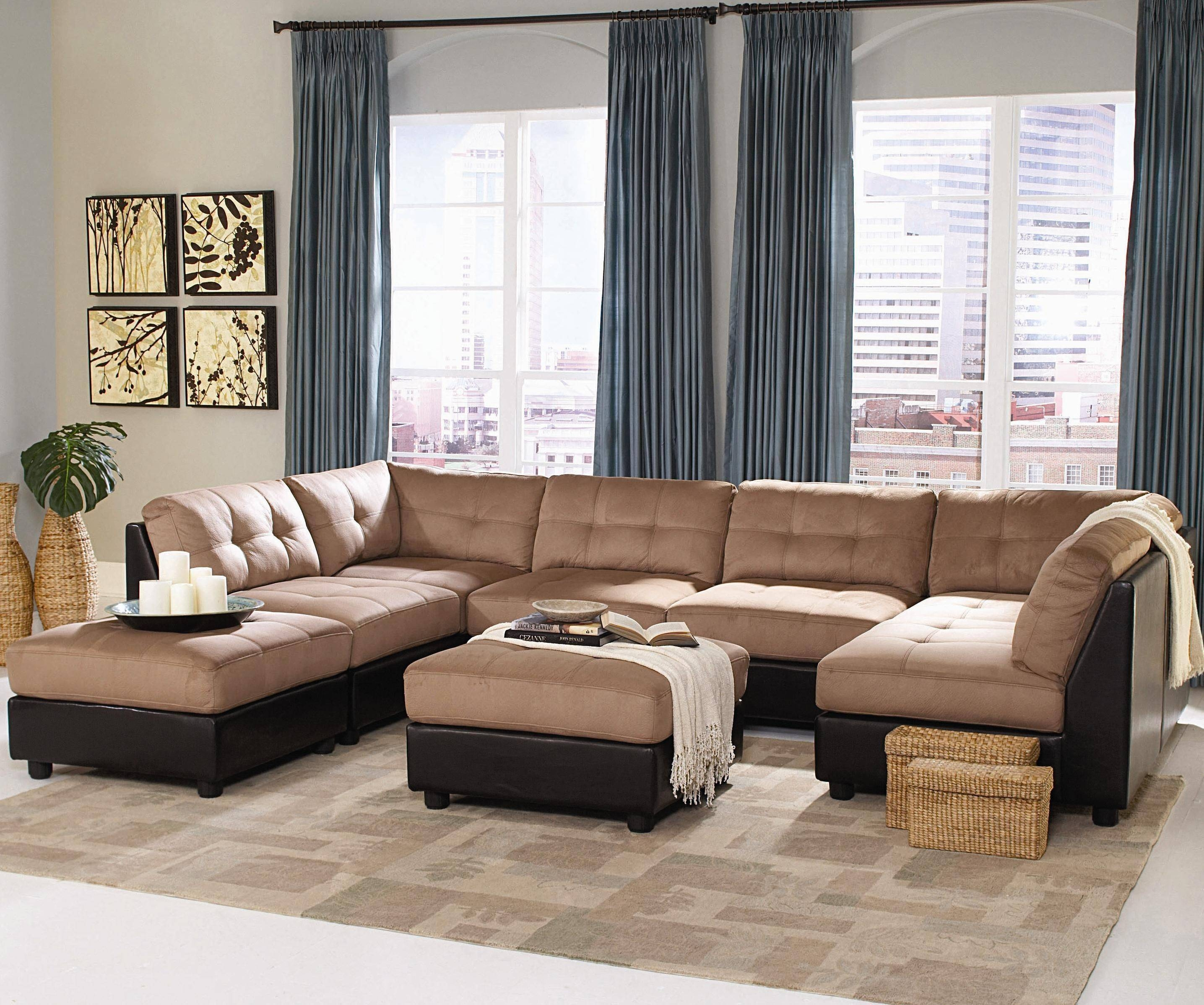 Furniture Home: Fancy Modern Sectional Sofas 21 With Additional with regard to Modern Microfiber Sectional Sofa (Image 10 of 30)