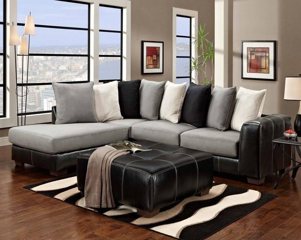 Furniture Home: Furniture U Shaped Microfiber Sectional Sofa With inside Modern Microfiber Sectional Sofa (Image 12 of 30)