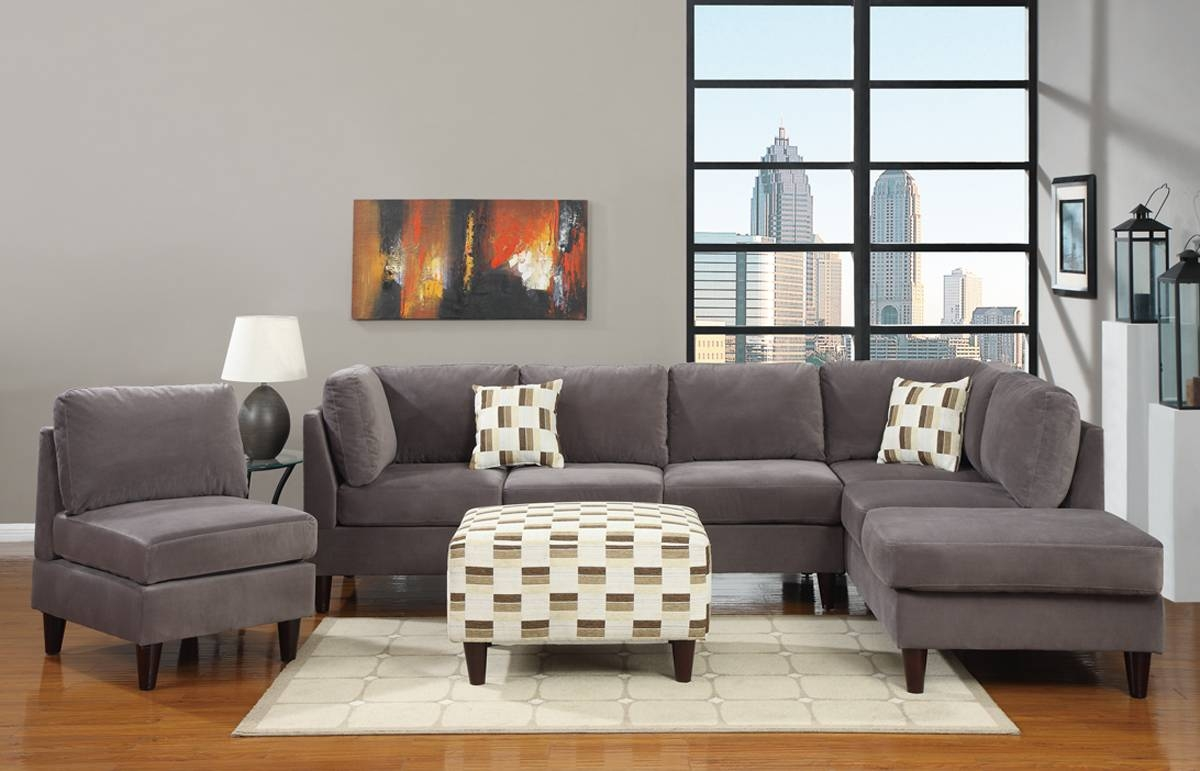 Furniture Home: Living Room Ikea Chaise Cool Gray Sectional Sofa for Modern Microfiber Sectional Sofa (Image 13 of 30)