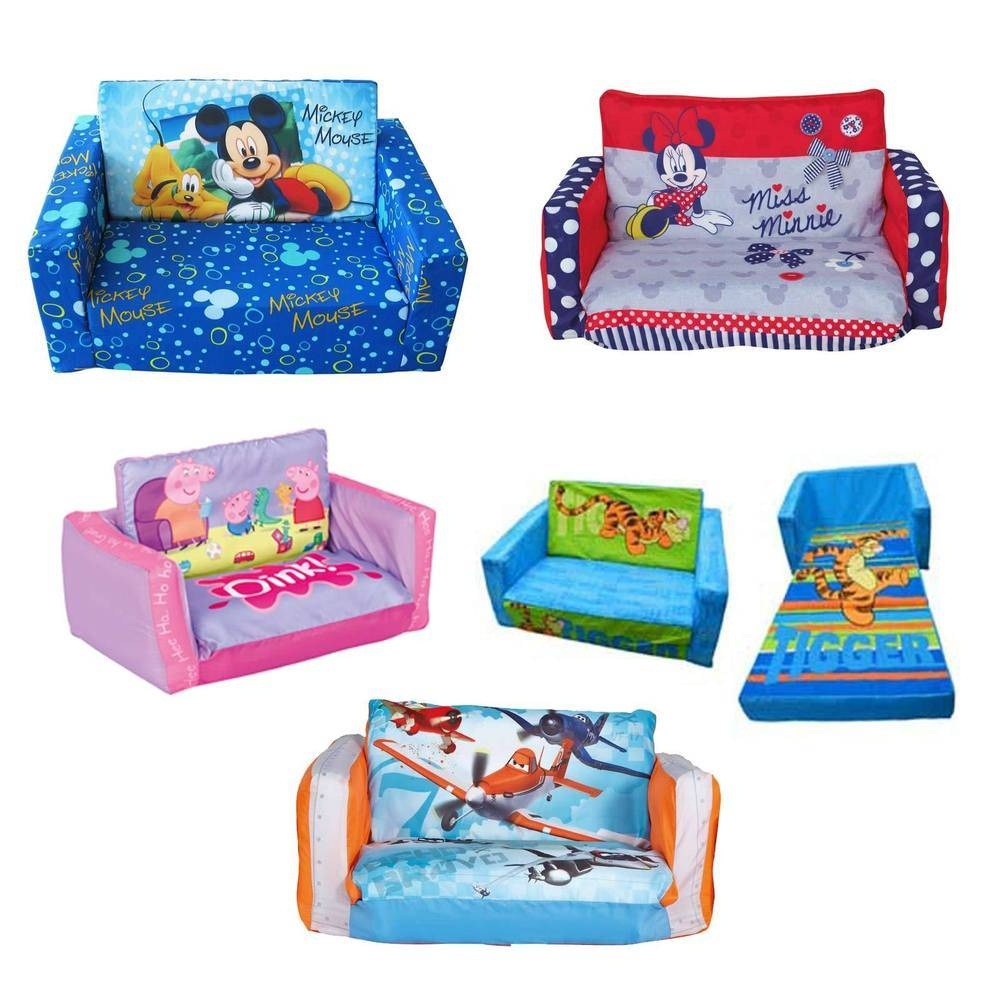 Furniture Home: Pgp 4 Kids Childrens Sofa Bed Fold Out Sofa Foam within Flip Out Sofa Bed Toddlers (Image 9 of 30)