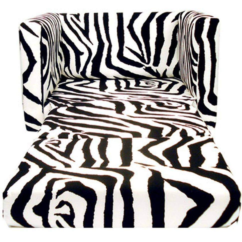 Furniture Home: Pgp 4 Kids Childrens Sofa Bed Fold Out Sofa Foam within Kids Sofa Chair and Ottoman Set Zebra (Image 11 of 30)