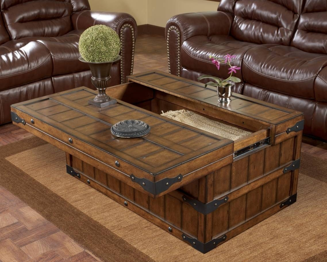 Furniture Home : Wood Storage Trunk Coffee Table Design Modern with Large Trunk Coffee Tables (Image 9 of 30)