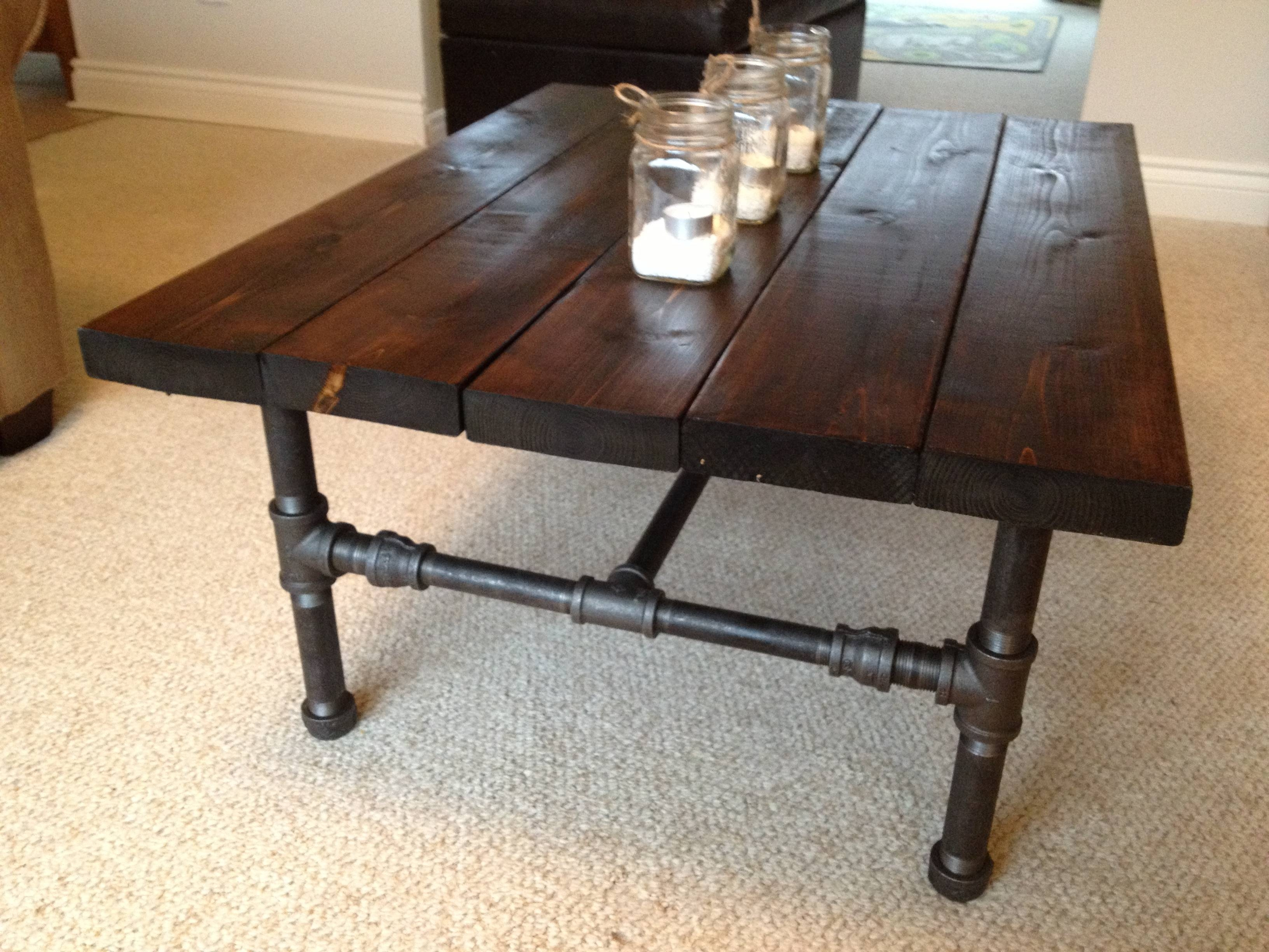 Furniture: Homemade Coffee Tables | Homemade Coffee Table with regard to Rustic Coffee Table With Wheels (Image 11 of 30)