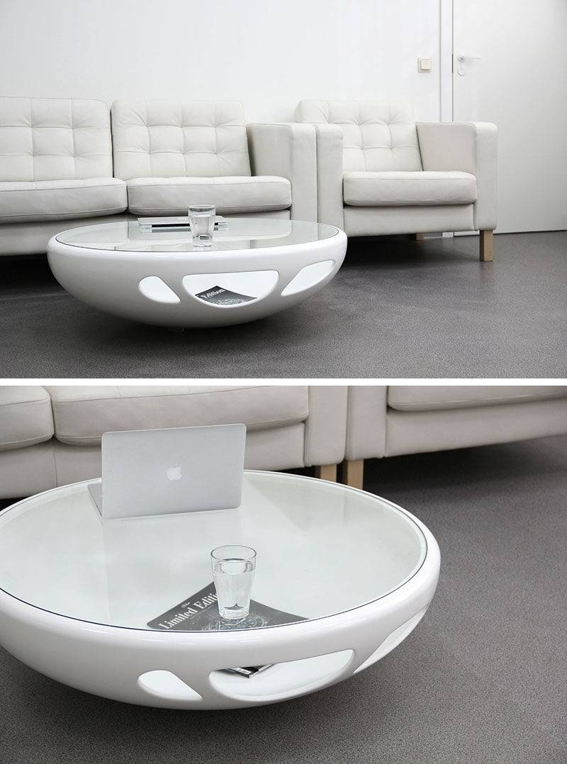 Furniture Ideas – Round Coffee Tables In Glass, Wood, Marble And Throughout Space Coffee Tables (View 8 of 30)