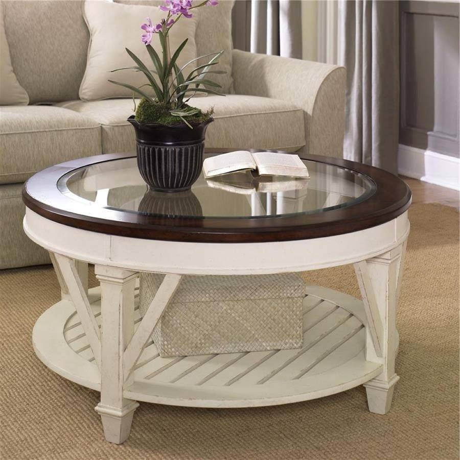 Furniture. Ikea Round Coffee Table Designs: White Unique Laminated throughout White Cottage Style Coffee Tables (Image 18 of 30)