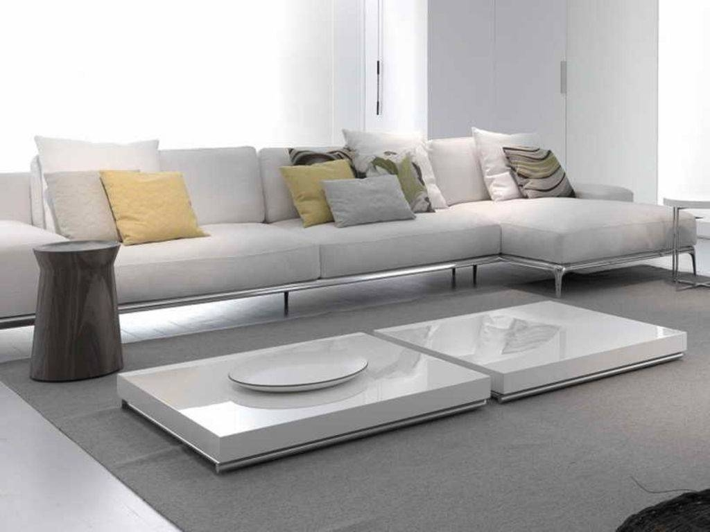 Furniture : Impressive Low Profile White Coffee Table For Modern Intended For Large Low White Coffee Tables (View 10 of 30)