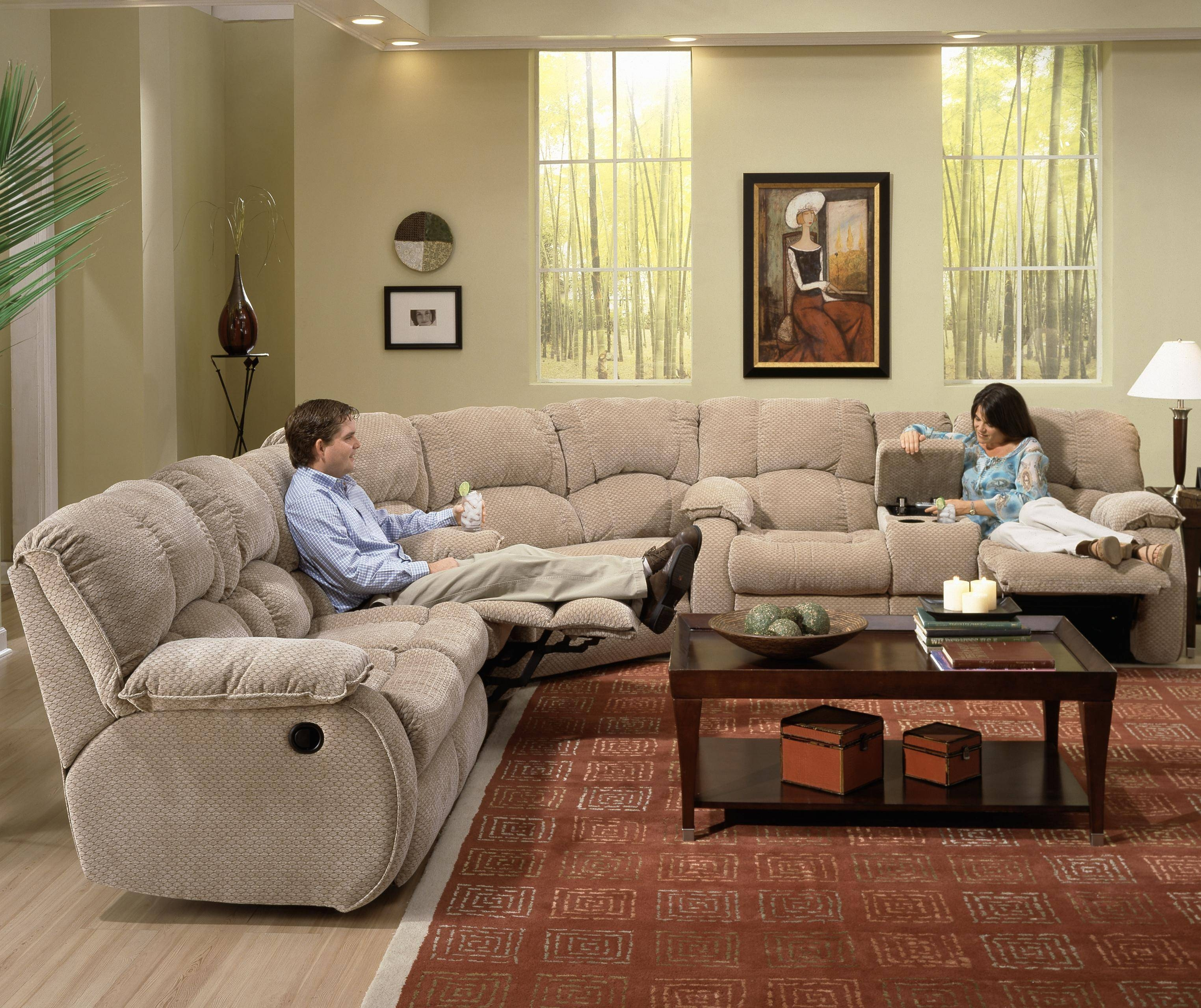 Furniture: Incredible Style Sectional Reclining Sofas For Your in Recliner Sectional Sofas (Image 12 of 30)
