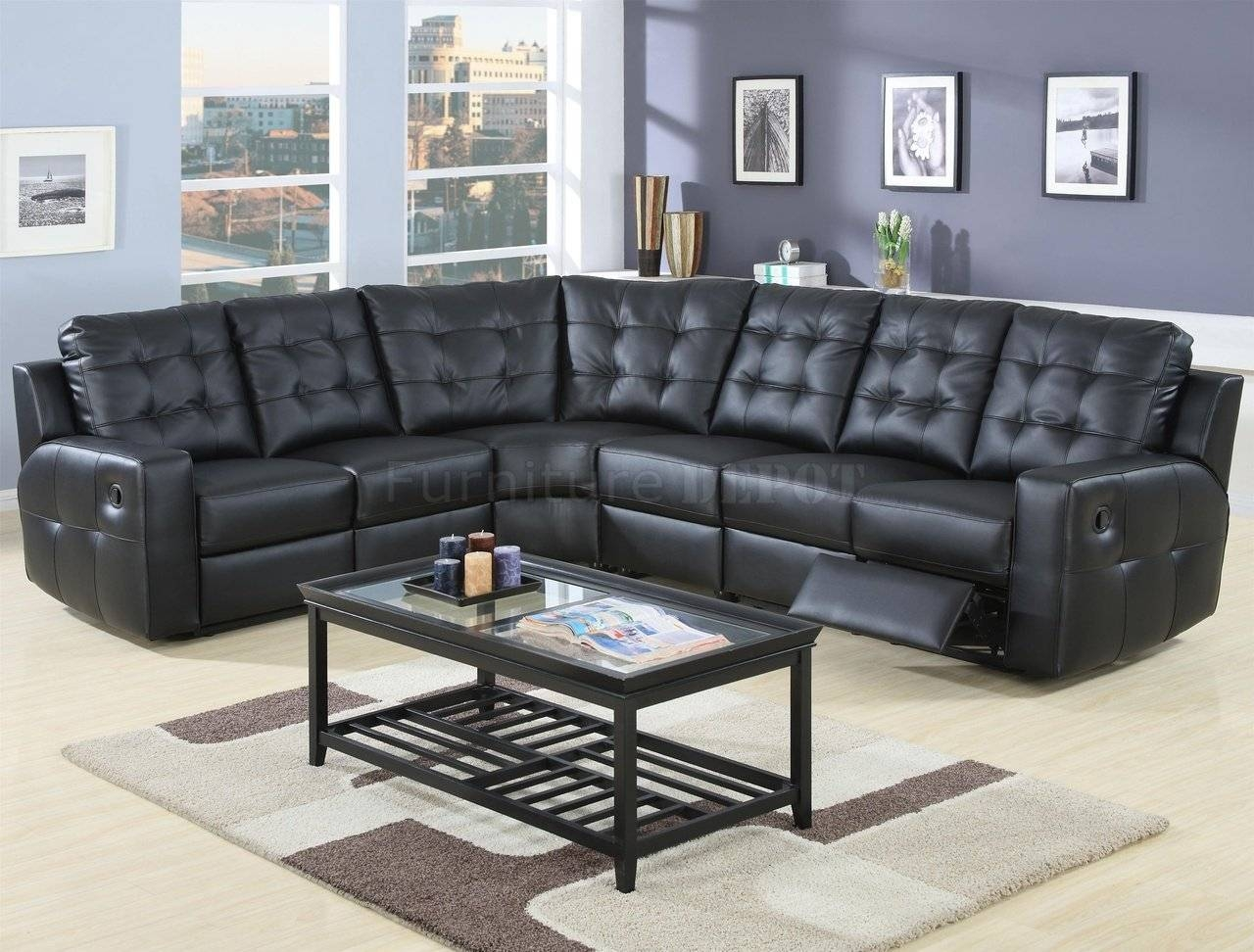 Furniture: Incredible Style Sectional Reclining Sofas For Your throughout Black Sectional Sofa For Cheap (Image 9 of 30)