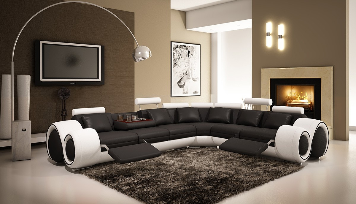 Furniture: Incredible Style Sectional Reclining Sofas For Your with regard to Curved Sectional Sofa With Recliner (Image 14 of 30)