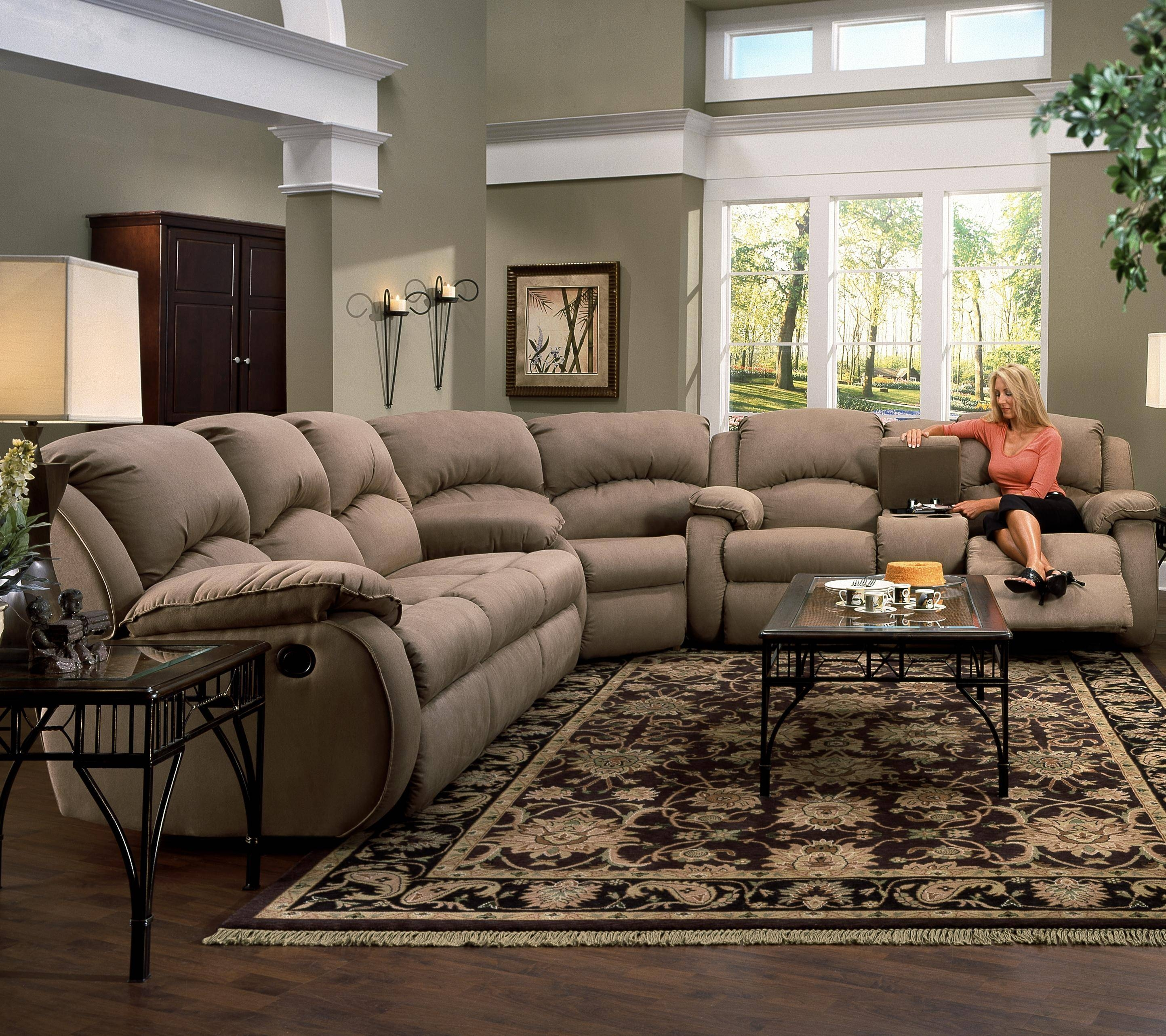 Furniture: Incredible Style Sectional Reclining Sofas For Your with regard to Sectional Sofa Recliners (Image 11 of 30)
