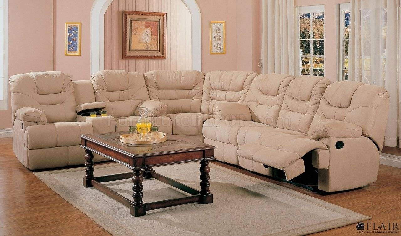 Furniture: Incredible Style Sectional Reclining Sofas For Your within Cloth Sectional Sofas (Image 13 of 30)