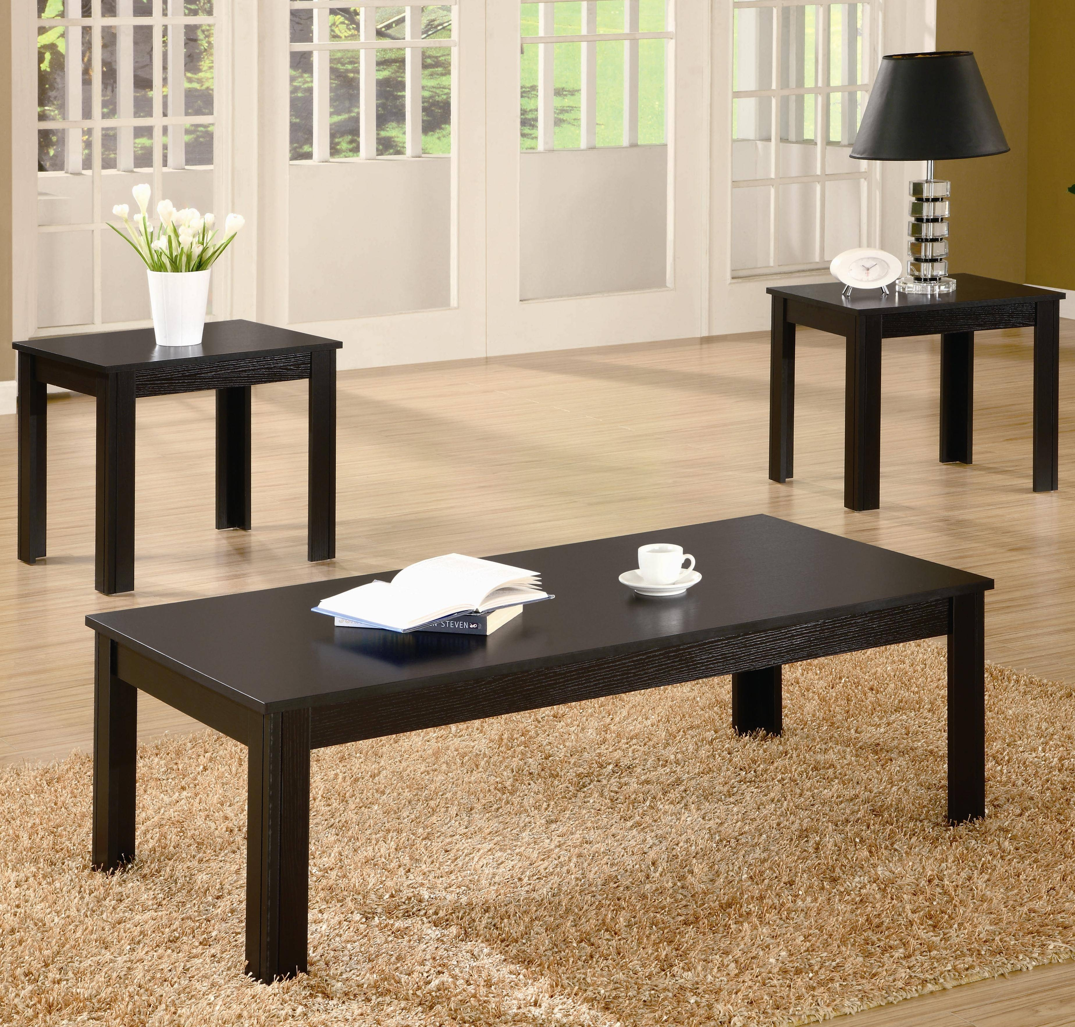 Furniture: Inexpensive Coffee Tables With Different Styles And inside Sofa Table With Chairs (Image 16 of 30)
