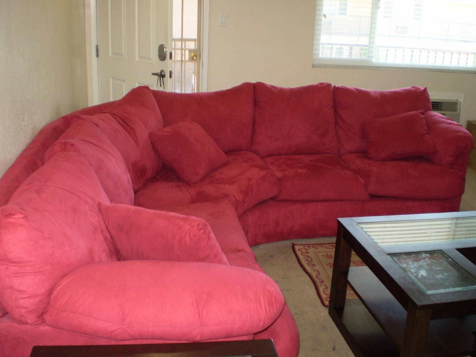 Furniture: Inspiring Cheap Sectional Sofas In Solid Red Plus inside Cheap Red Sofas (Image 11 of 30)