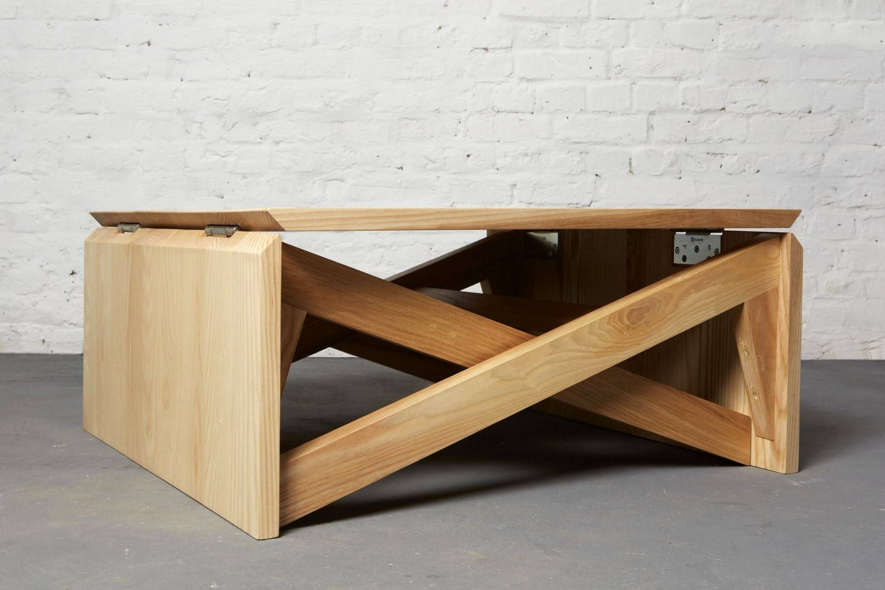 Furniture. Inspiring Coffee Table Converts To Dining Table Ideas within Oak and Cream Coffee Tables (Image 21 of 30)