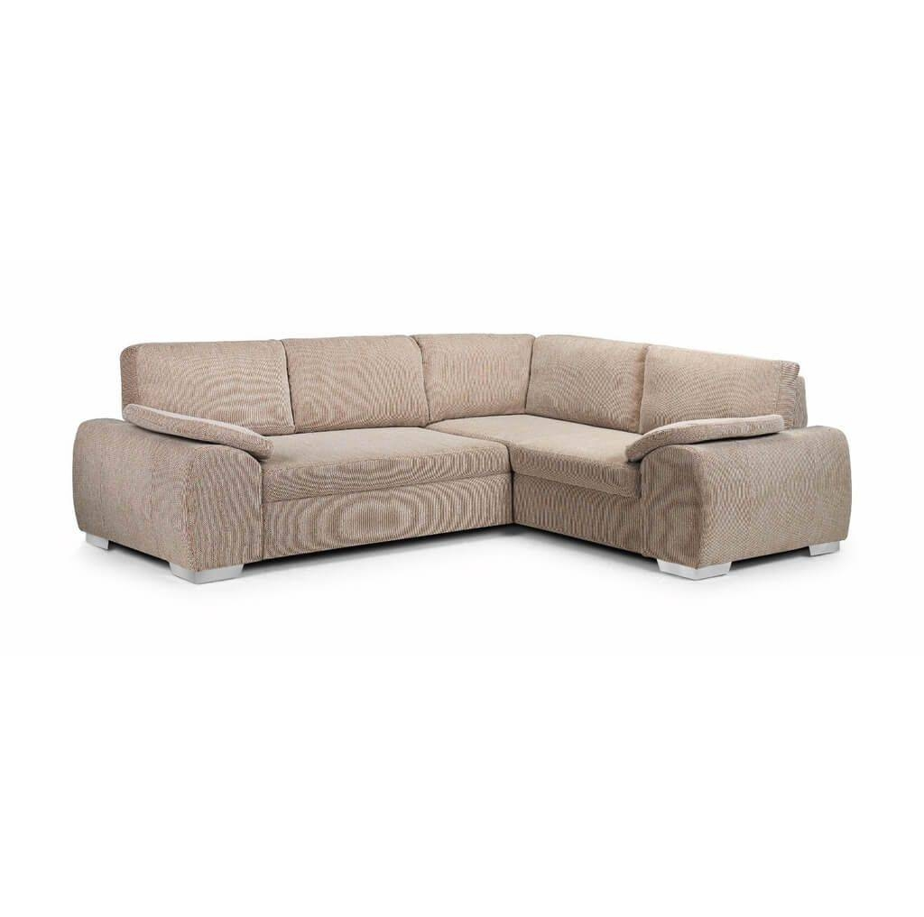 Furniture: Inspiring Linea Corner Sofa Bed Polish Brown - Corner regarding Cheap Corner Sofa Bed (Image 15 of 30)