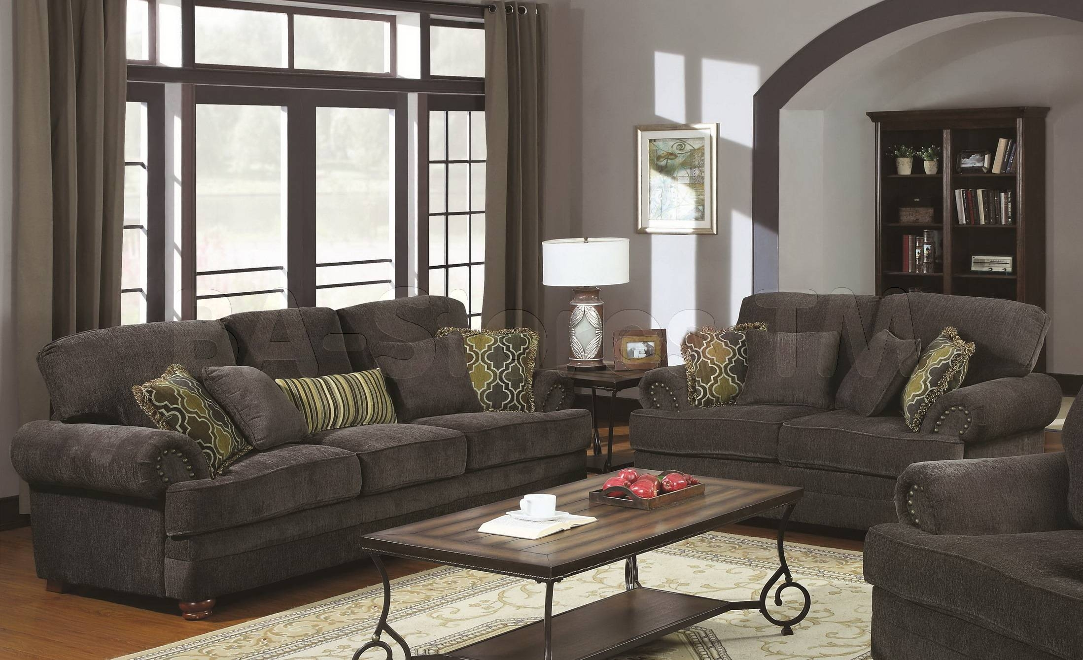 Furniture: Interesting Great Grey Loveseat With Fascinating Aura within Sofa Loveseat And Chairs (Image 11 of 30)