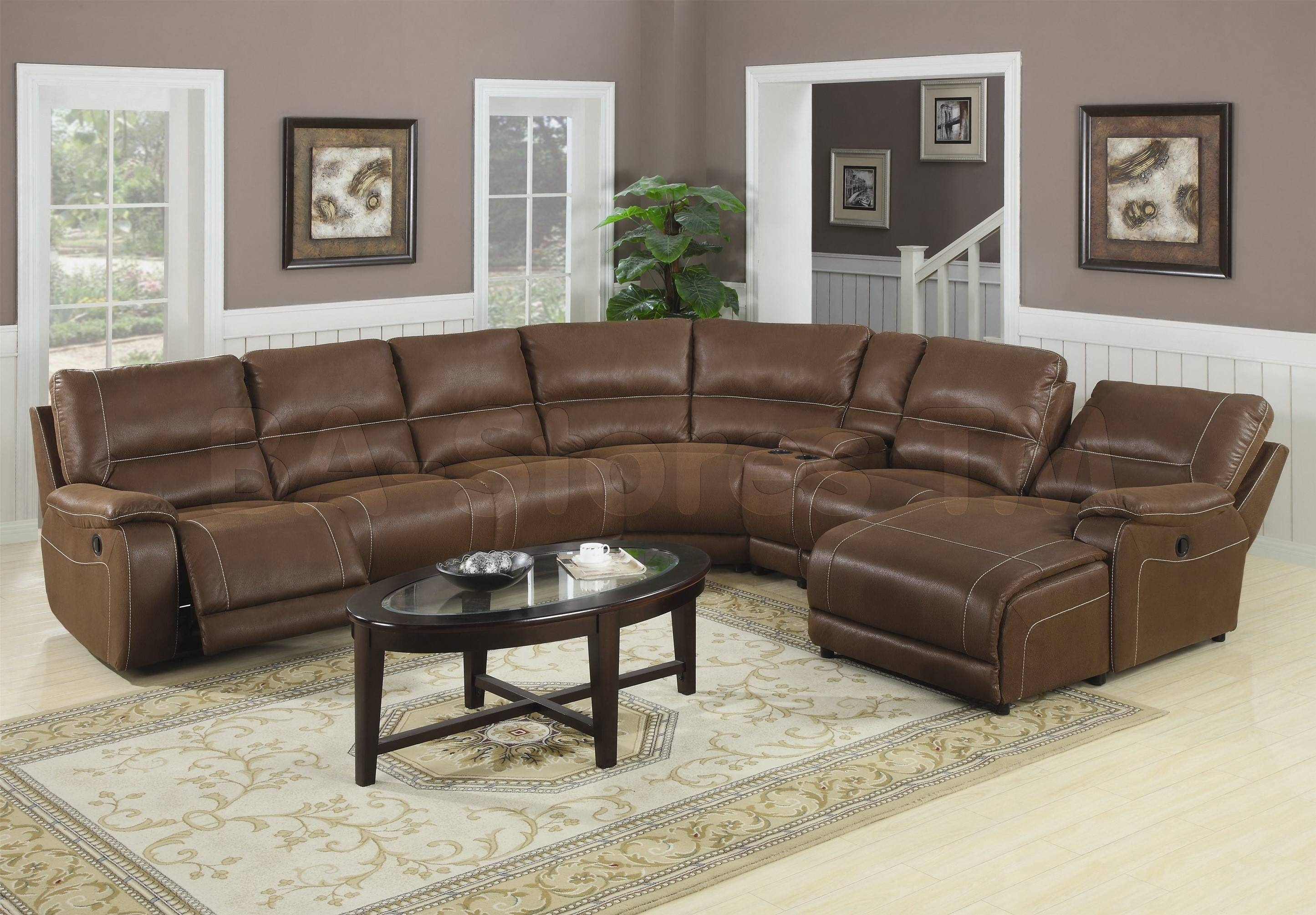 Furniture: Interesting Living Room Interior Using Large Sectional in Microsuede Sectional Sofas (Image 13 of 30)