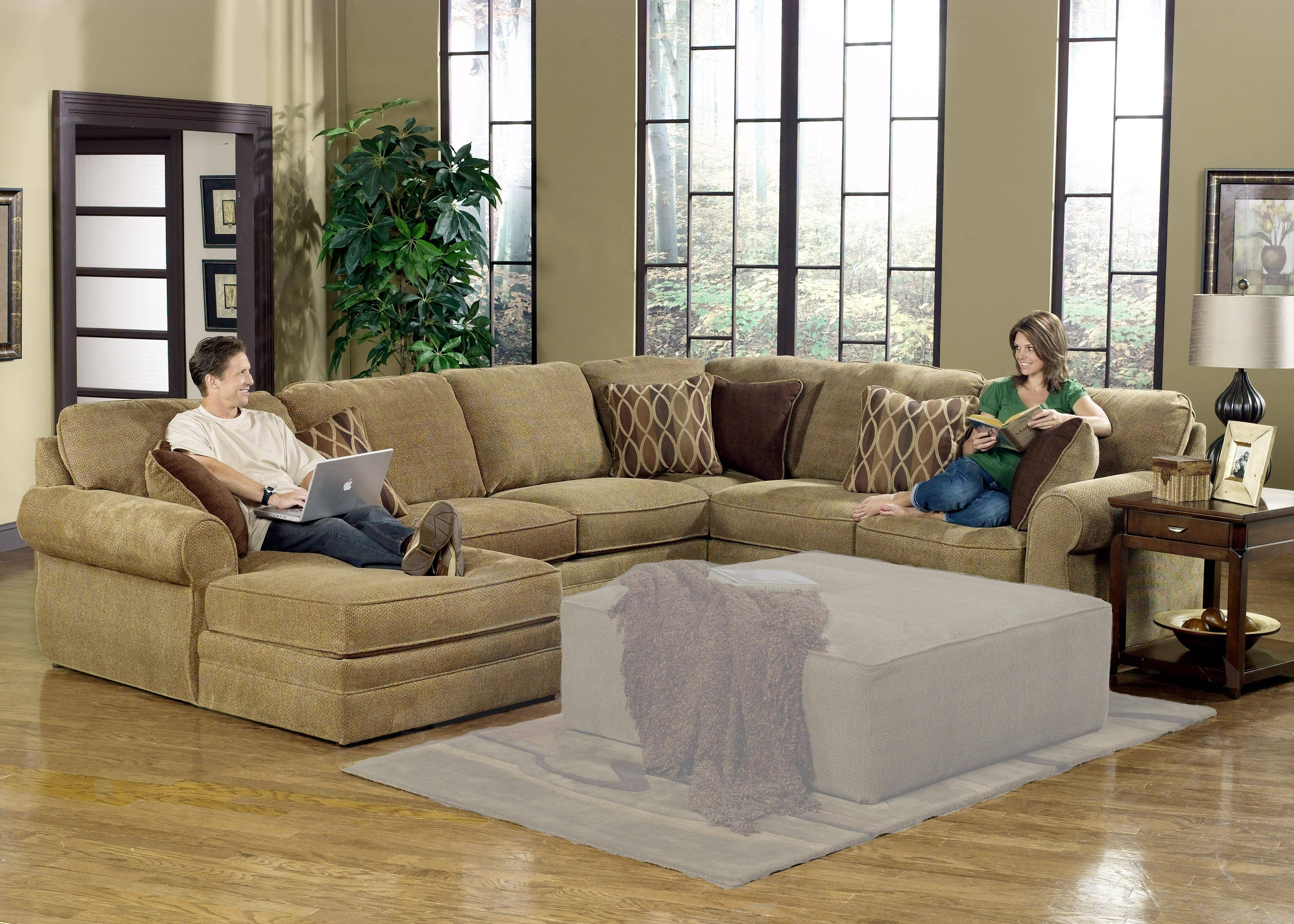 Furniture: Interesting Living Room Interior Using Large Sectional intended for Large Sofa Sectionals (Image 11 of 25)